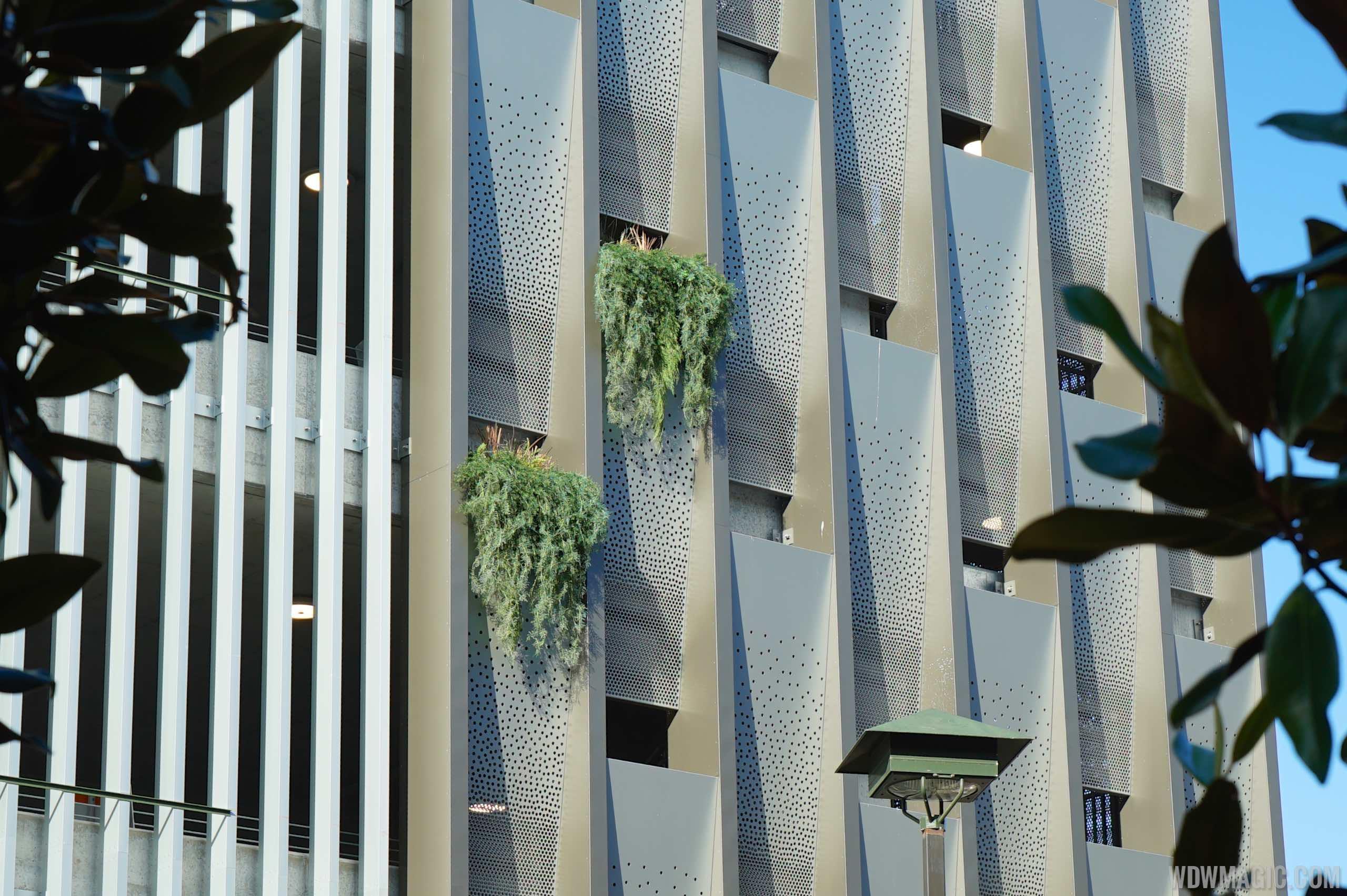 Disney Springs parking garage planters