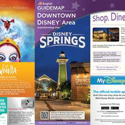 Disney Springs - Downtown Disney Guide Map Aug 2015