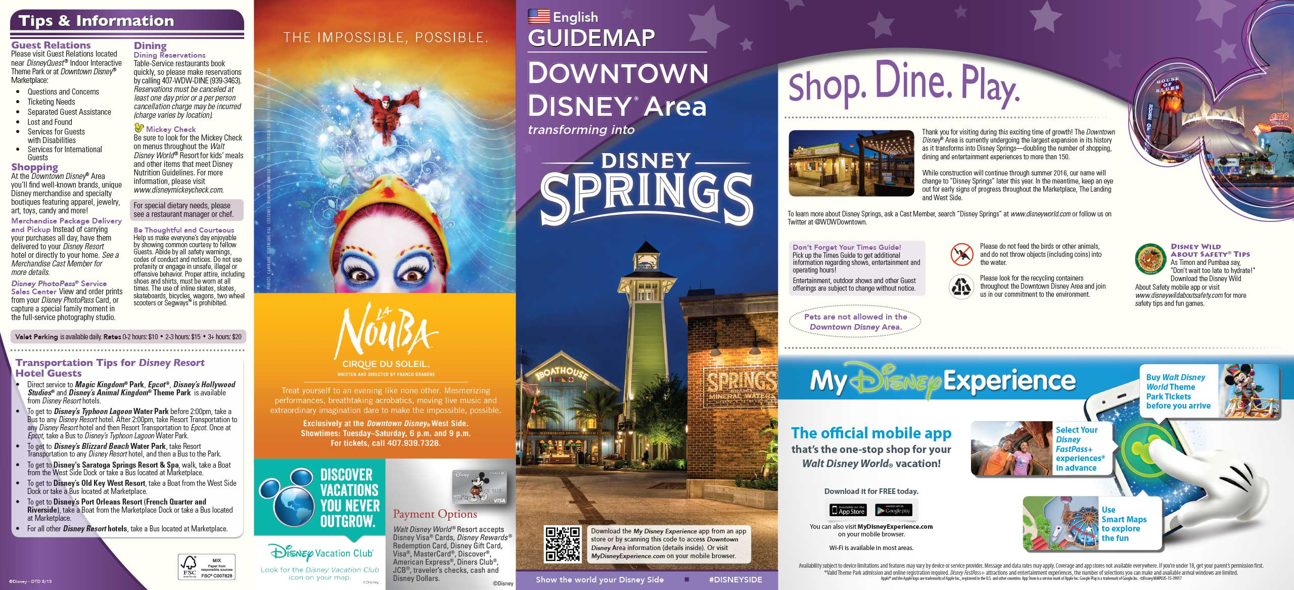 PHOTOS - New Downtown Disney guide map includes Disney Springs name on