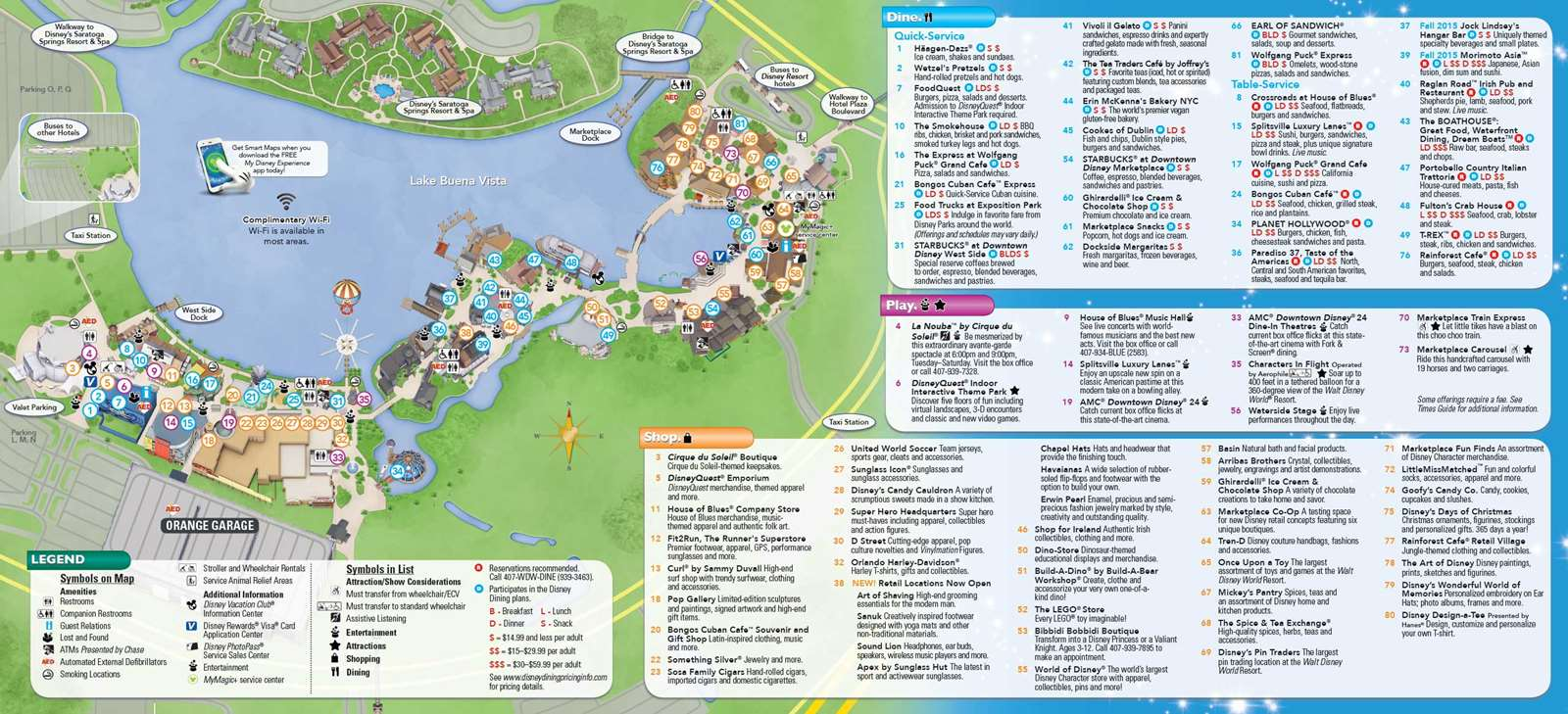 PHOTOS - New Downtown Disney guide map includes Disney Springs name ...