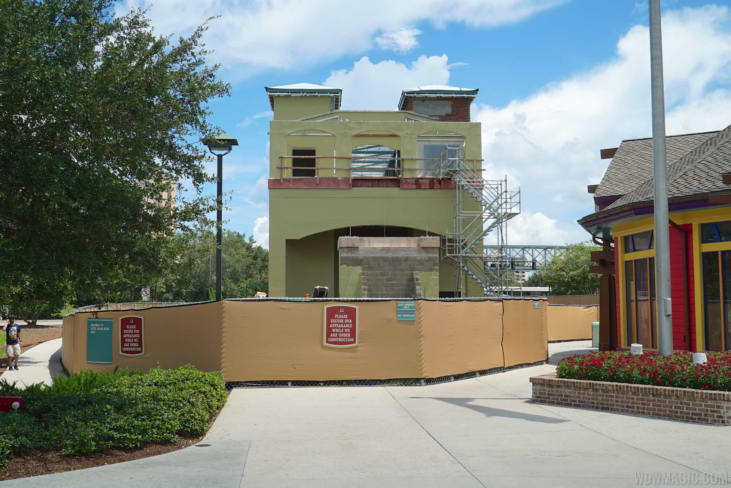 Hotel Blvd pedestrian bridge entrance at the Marketplace