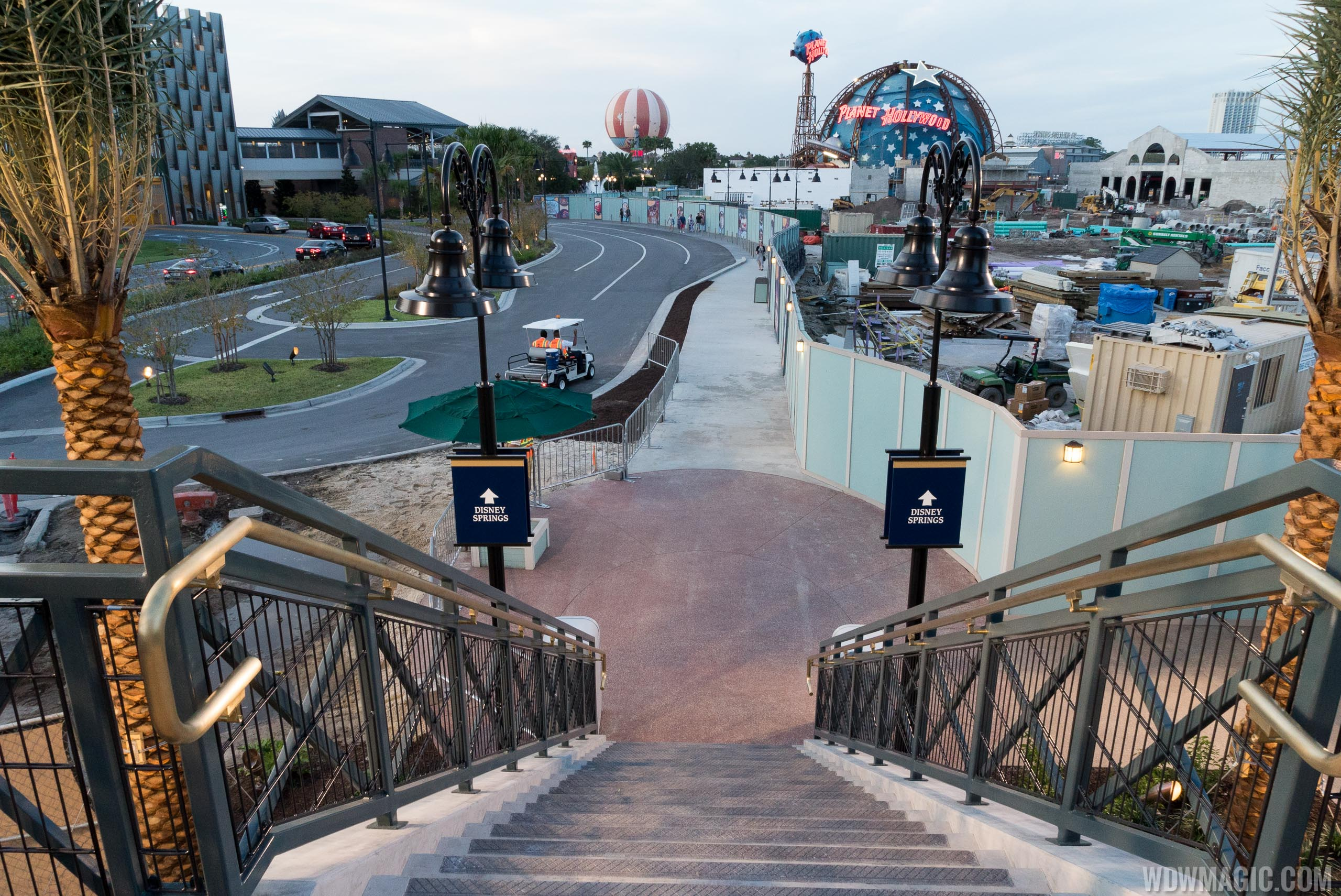Descending the staircase to Disney Springs