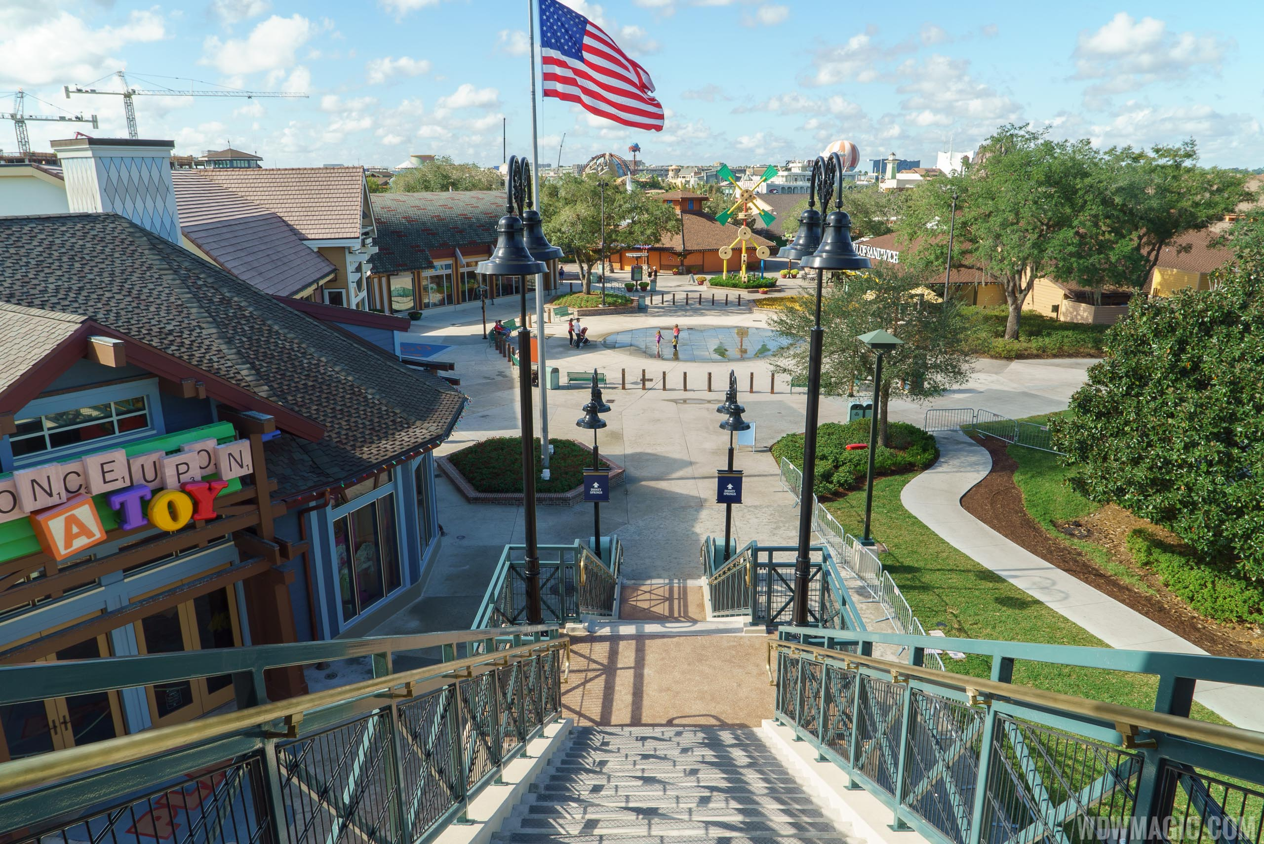 View from the top of the Marketplace stairway