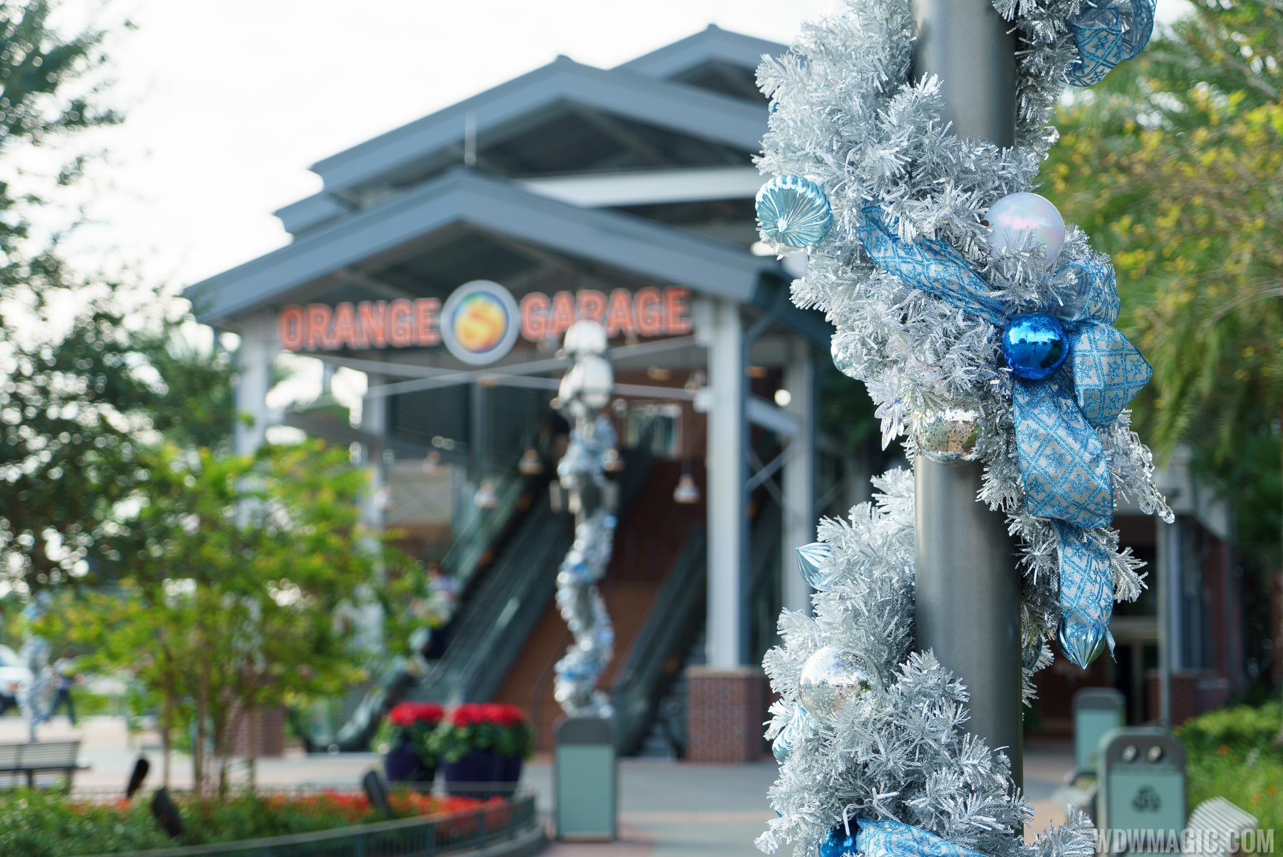 Disney Springs holiday decor 2015