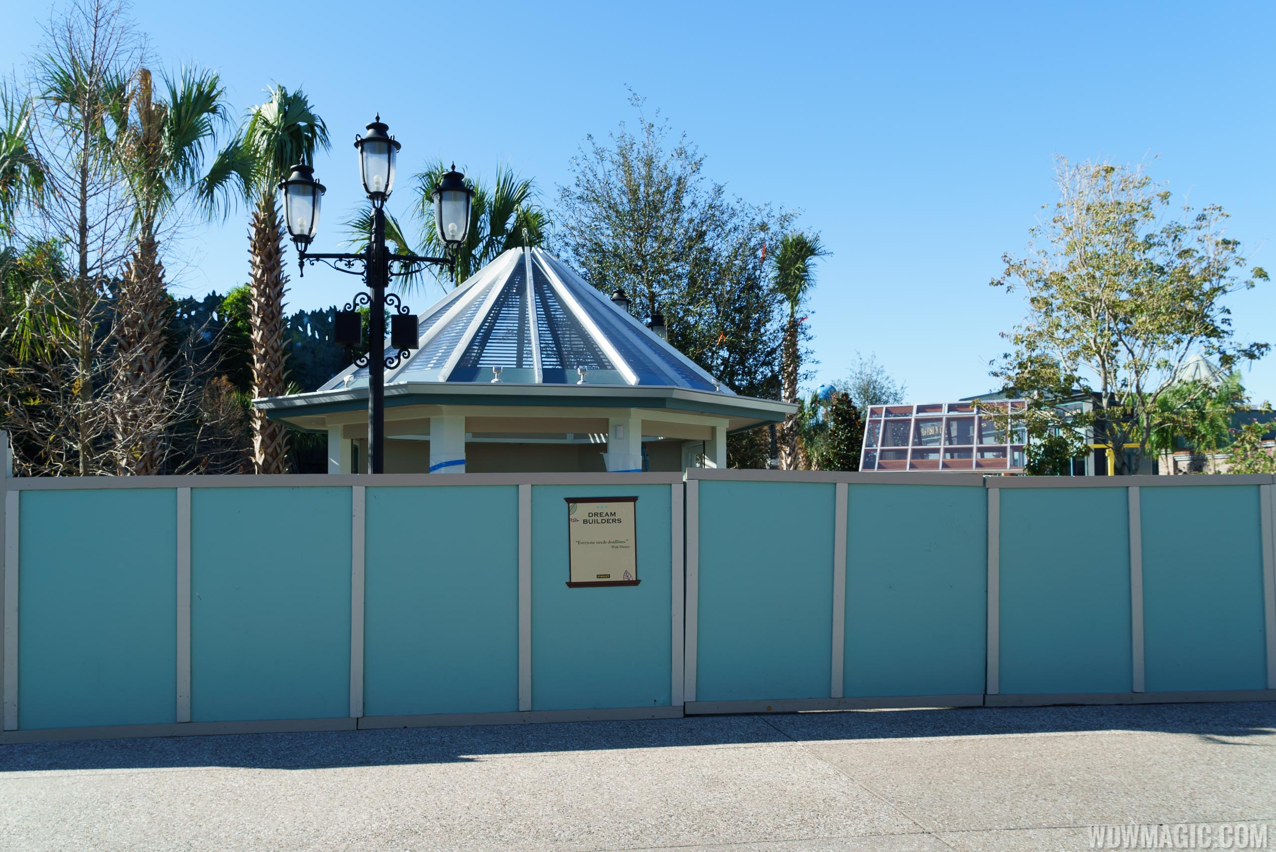 New kiosks under construction in The Springs