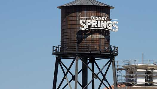 PHOTOS - Water tower arrives at Disney Springs