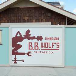 Aristocrepes, BB Wold Sausage Co kiosk construction