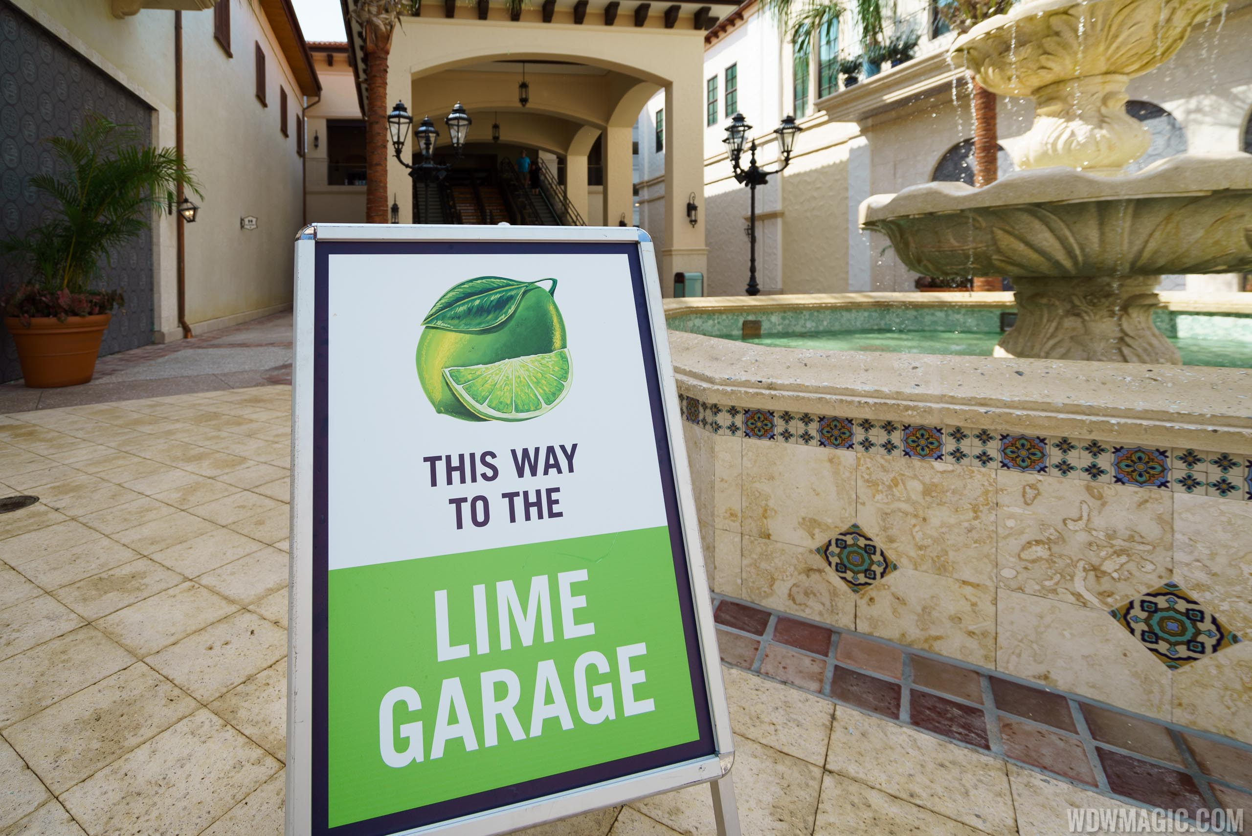 Disney Springs Lime Garage