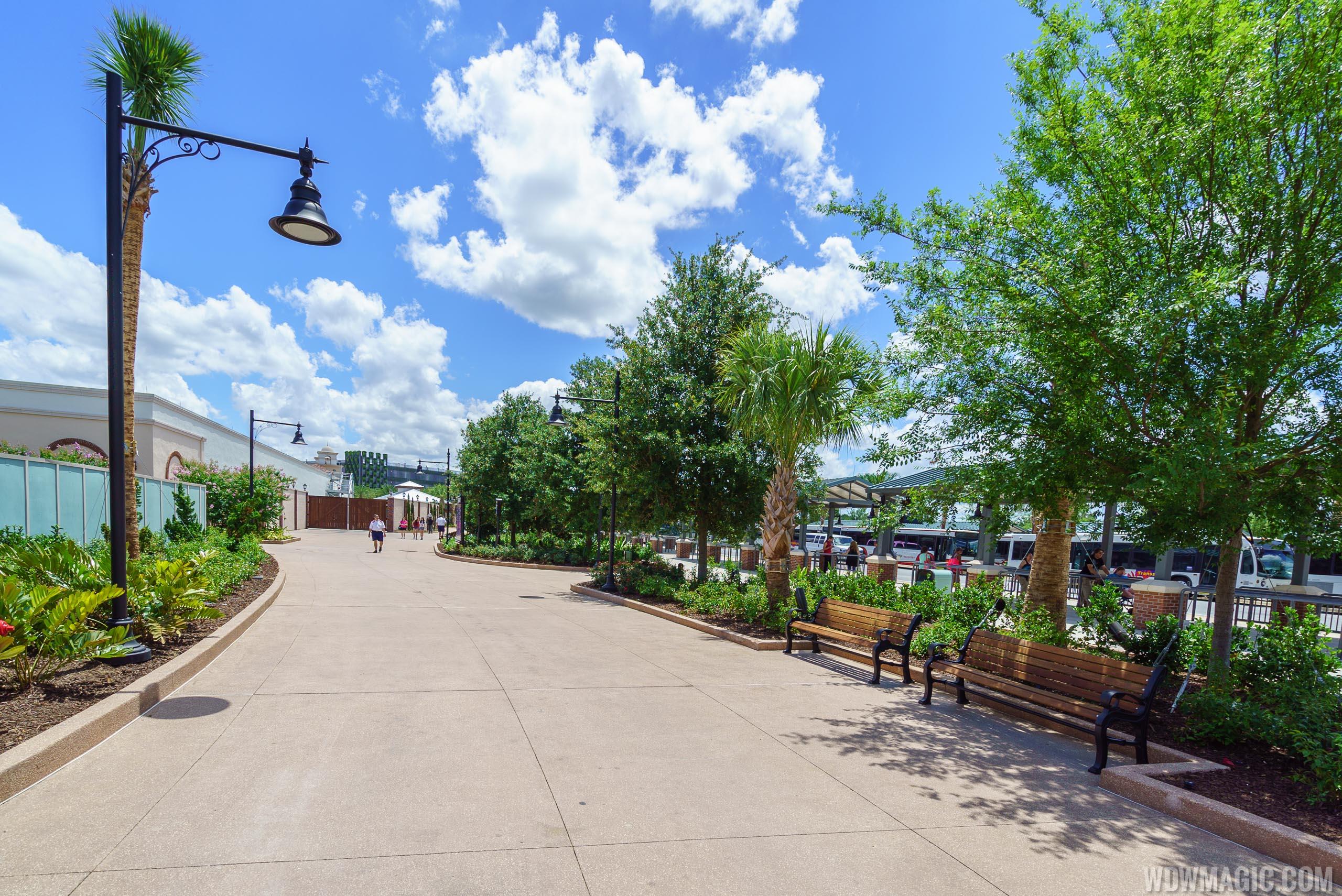 Disney Springs bus terminal walkway