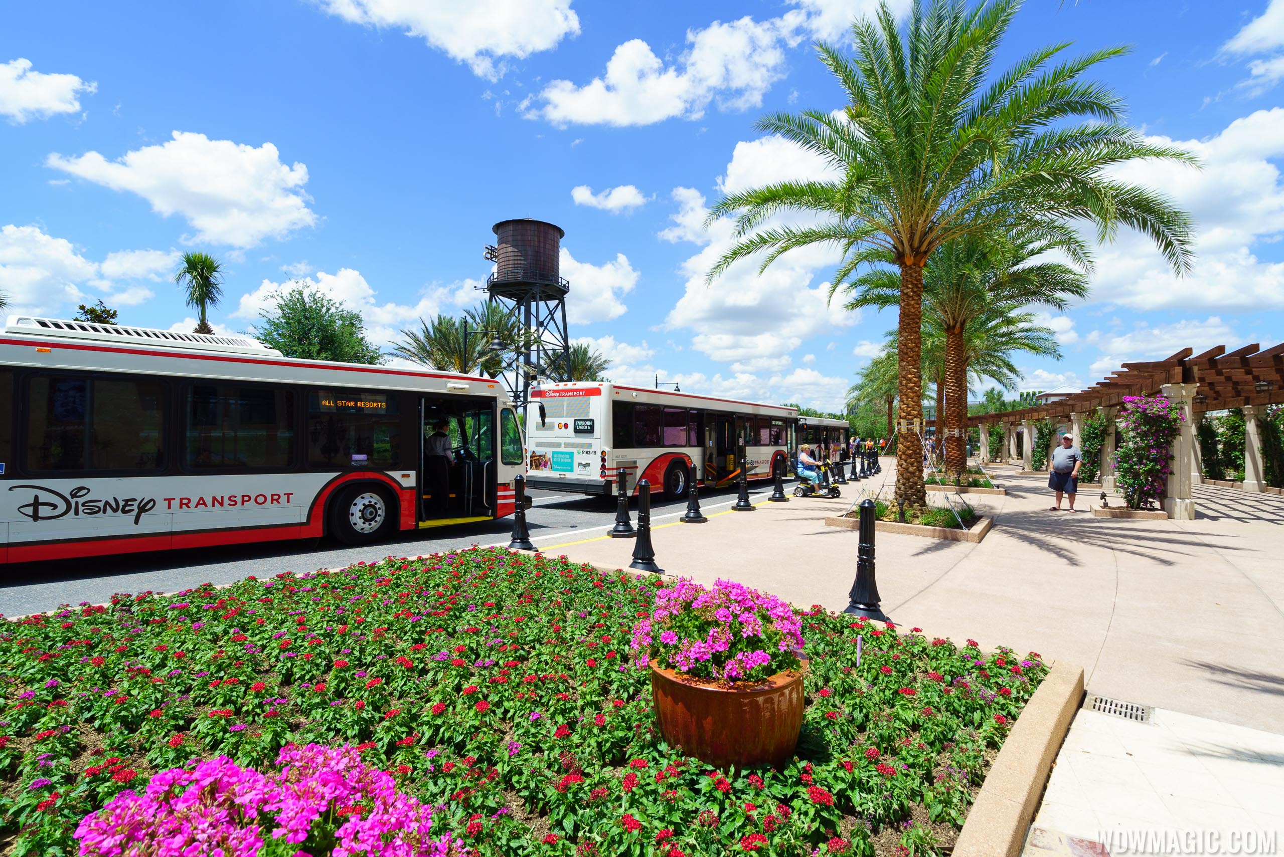 Disney Springs bus unload