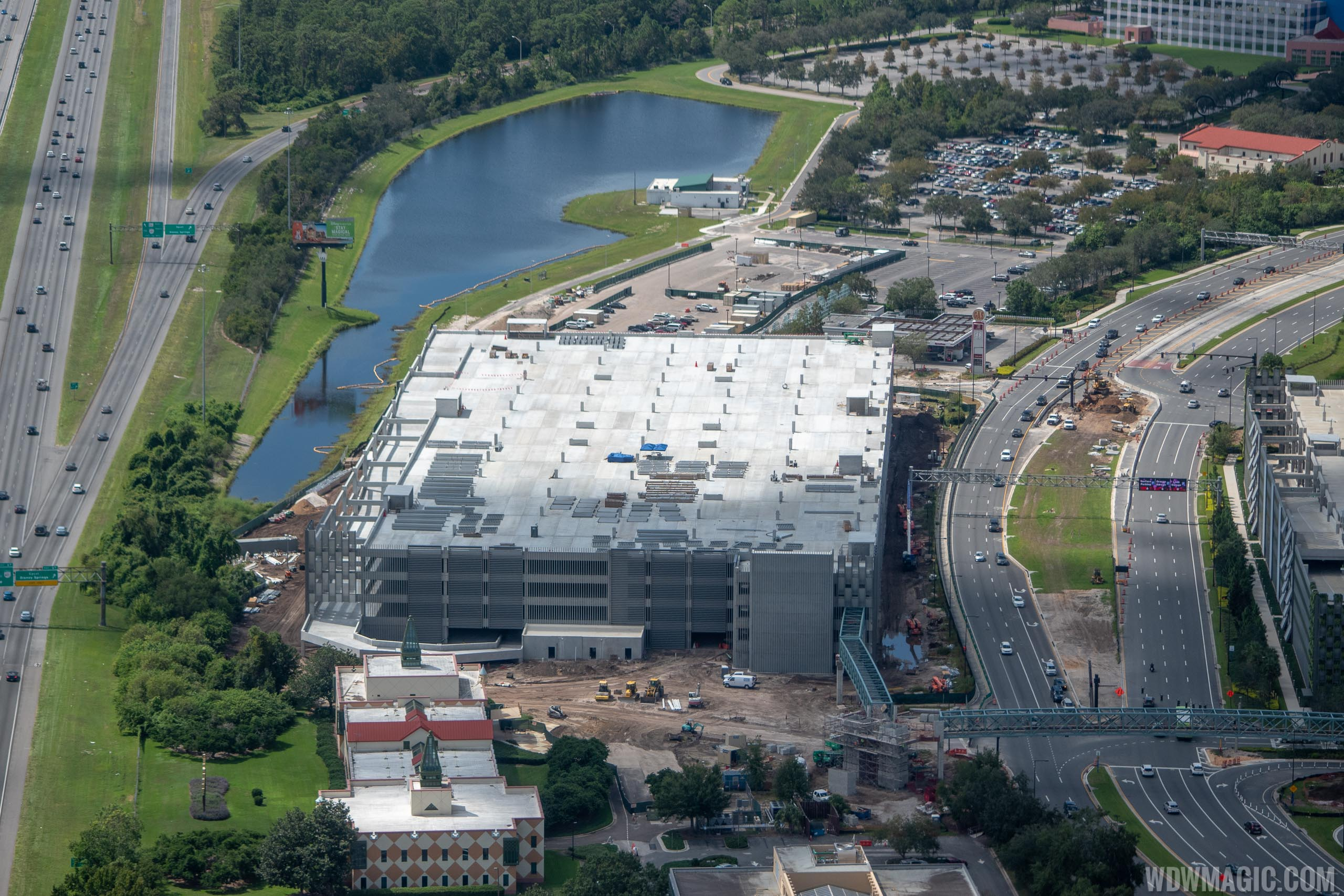 Disney Springs third parking lot construction - September 2018