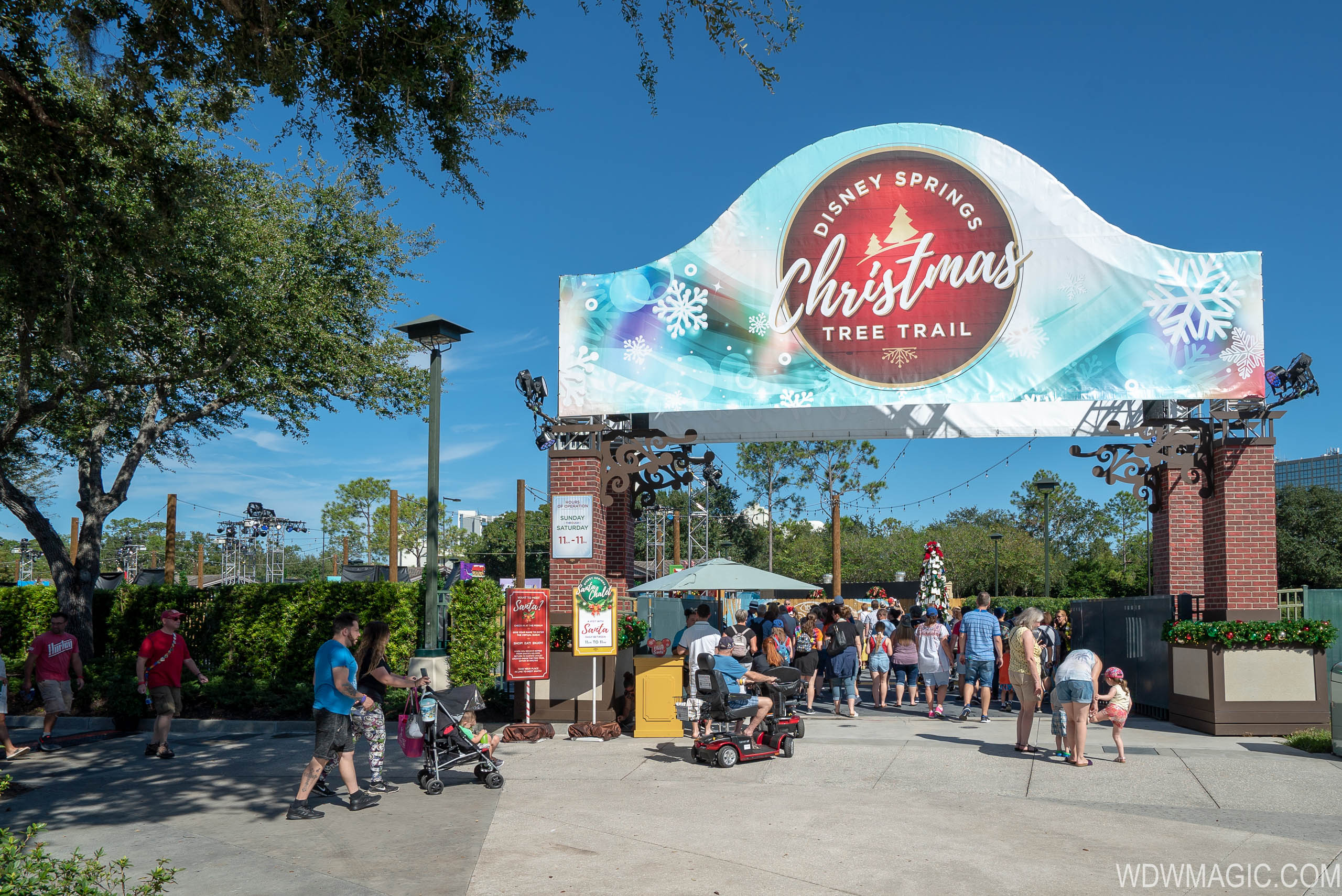 Disney Springs Christmas Tree Trail 2018