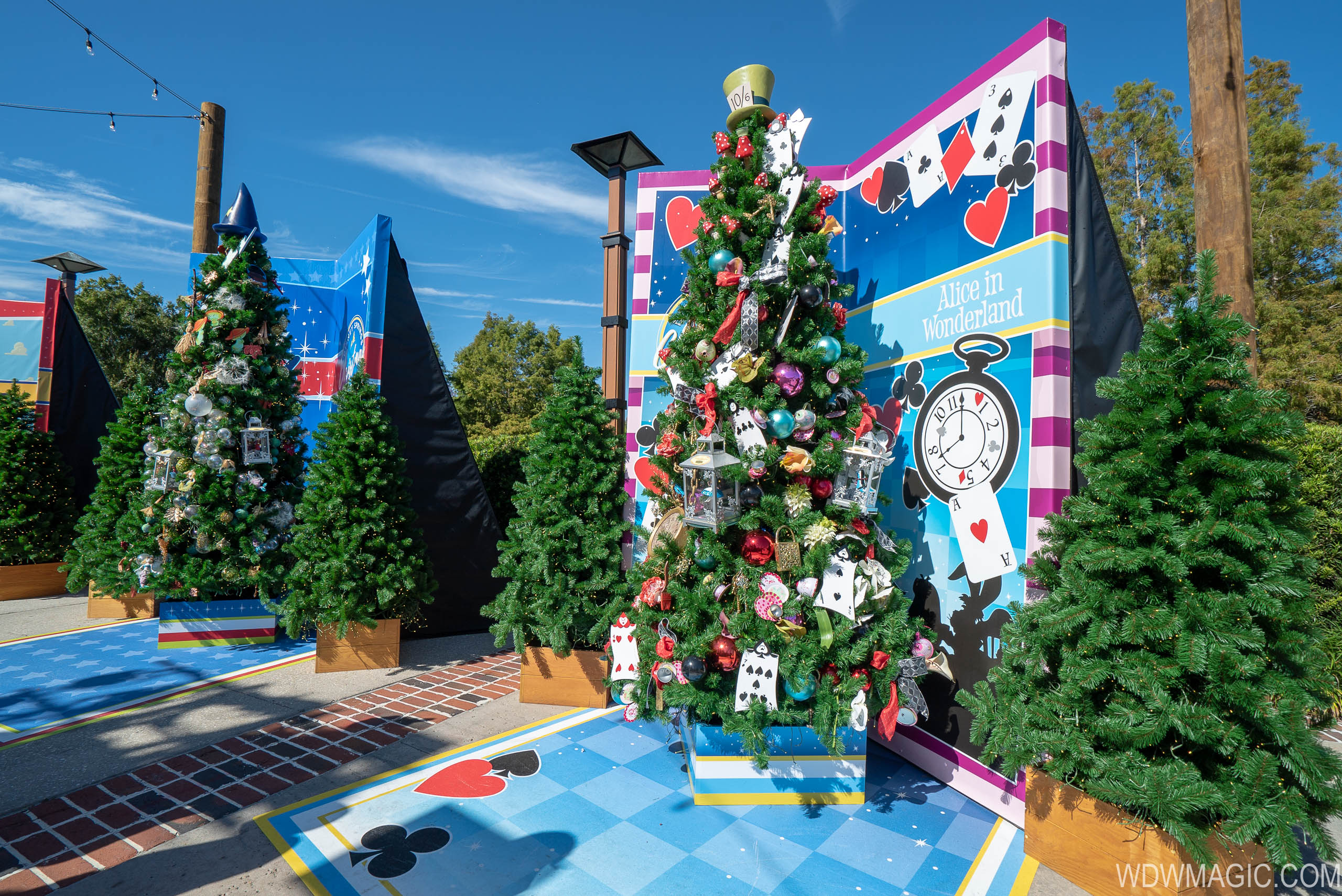 photos disney springs christmas tree trail and santas chalet now open - Disney Christmas Tree