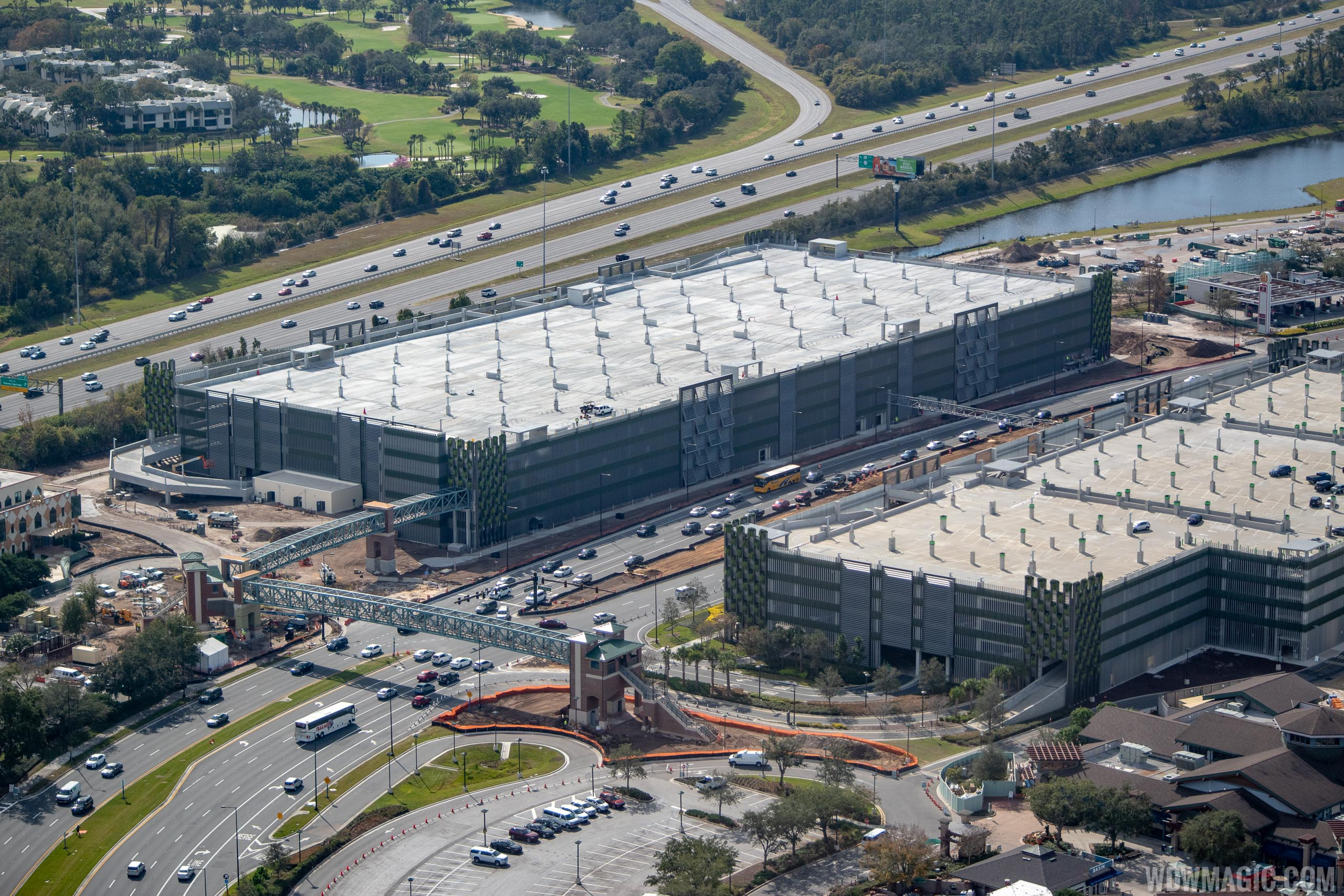 Disney Springs Grapefruit Garage construction - January 2019