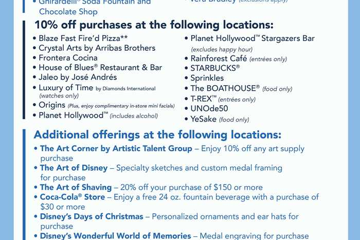 Walt Disney World Marathon Weekend discounts at Disney Springs