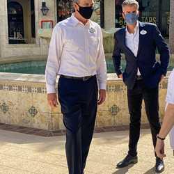 Disney Parks Chairman Josh D'Amaro and Walt Disney World President Jeff Vahle at Disney Springs
