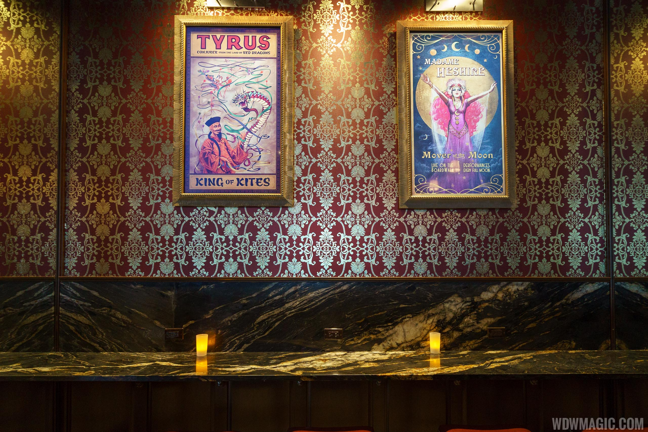 AbracadaBAR counter and enchanted posters
