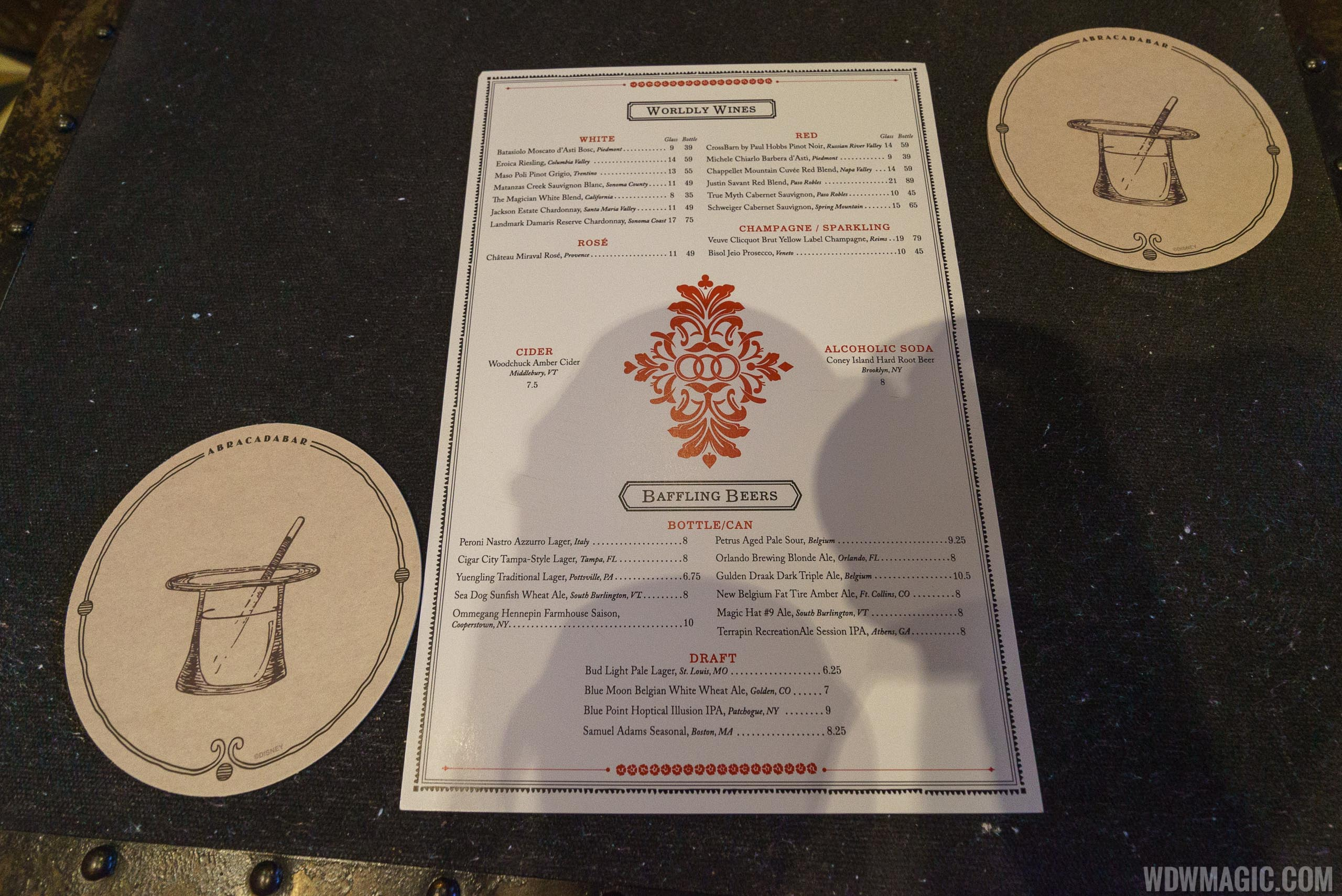 AbracadaBAR Wine and Beer menu