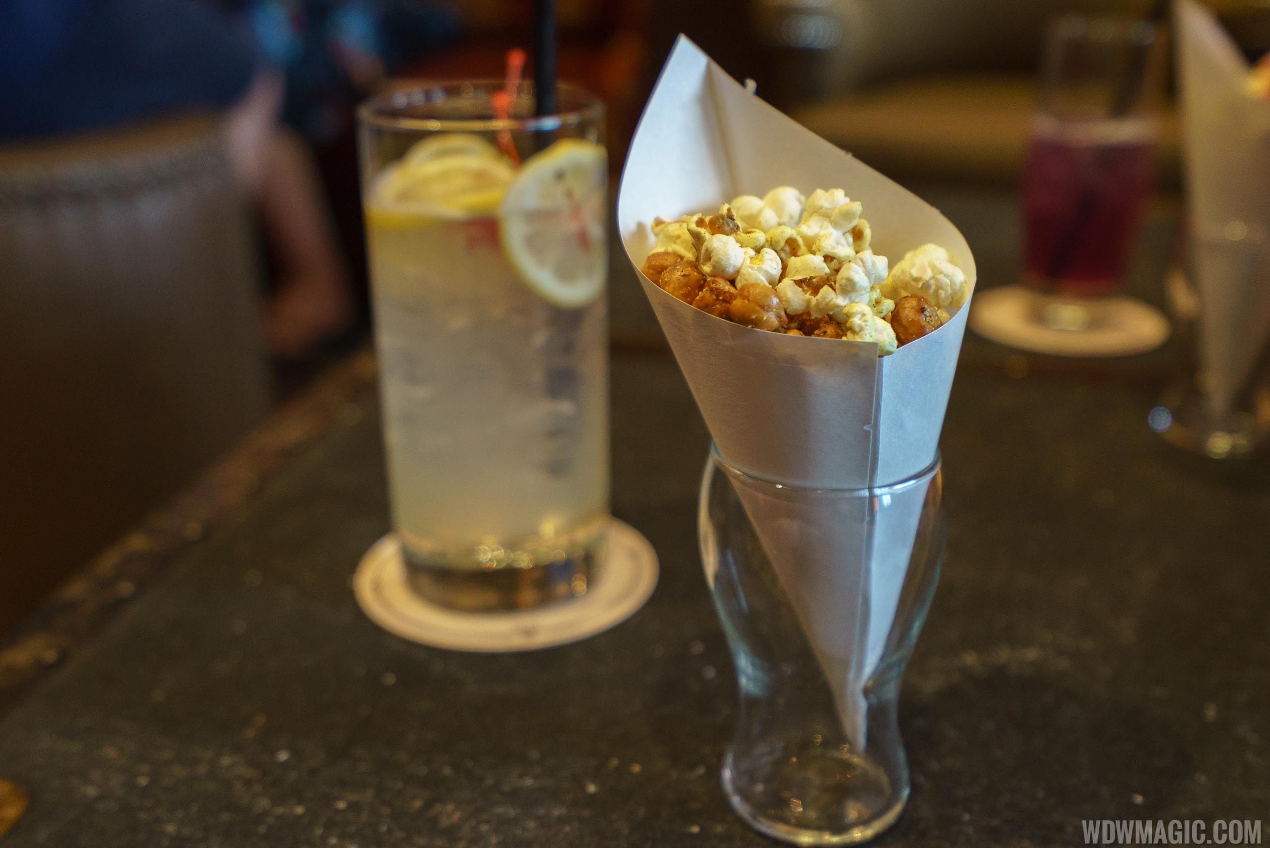 AbracadaBAR Complimentary popcorn and chick peas