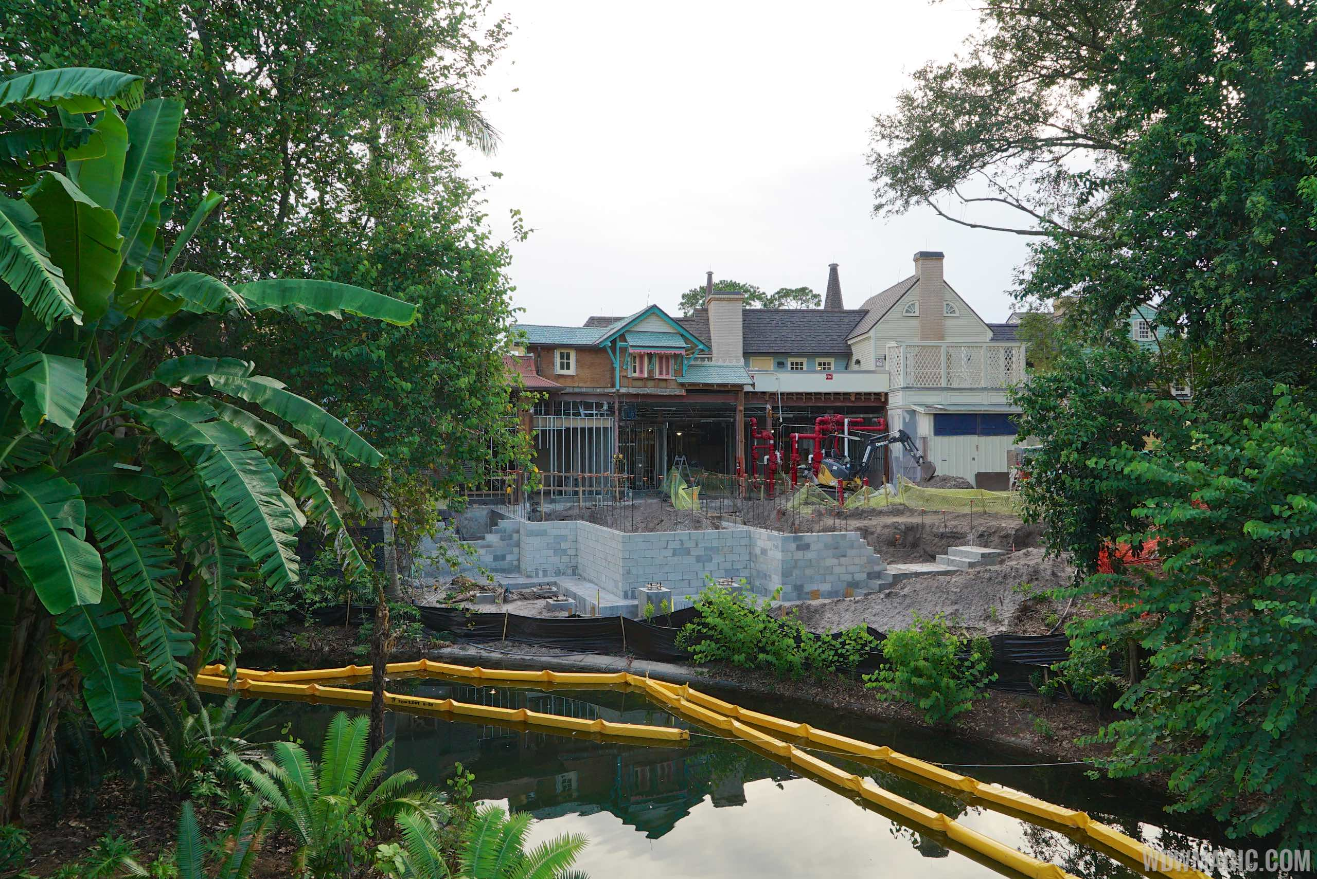 Adventureland Veranda construction