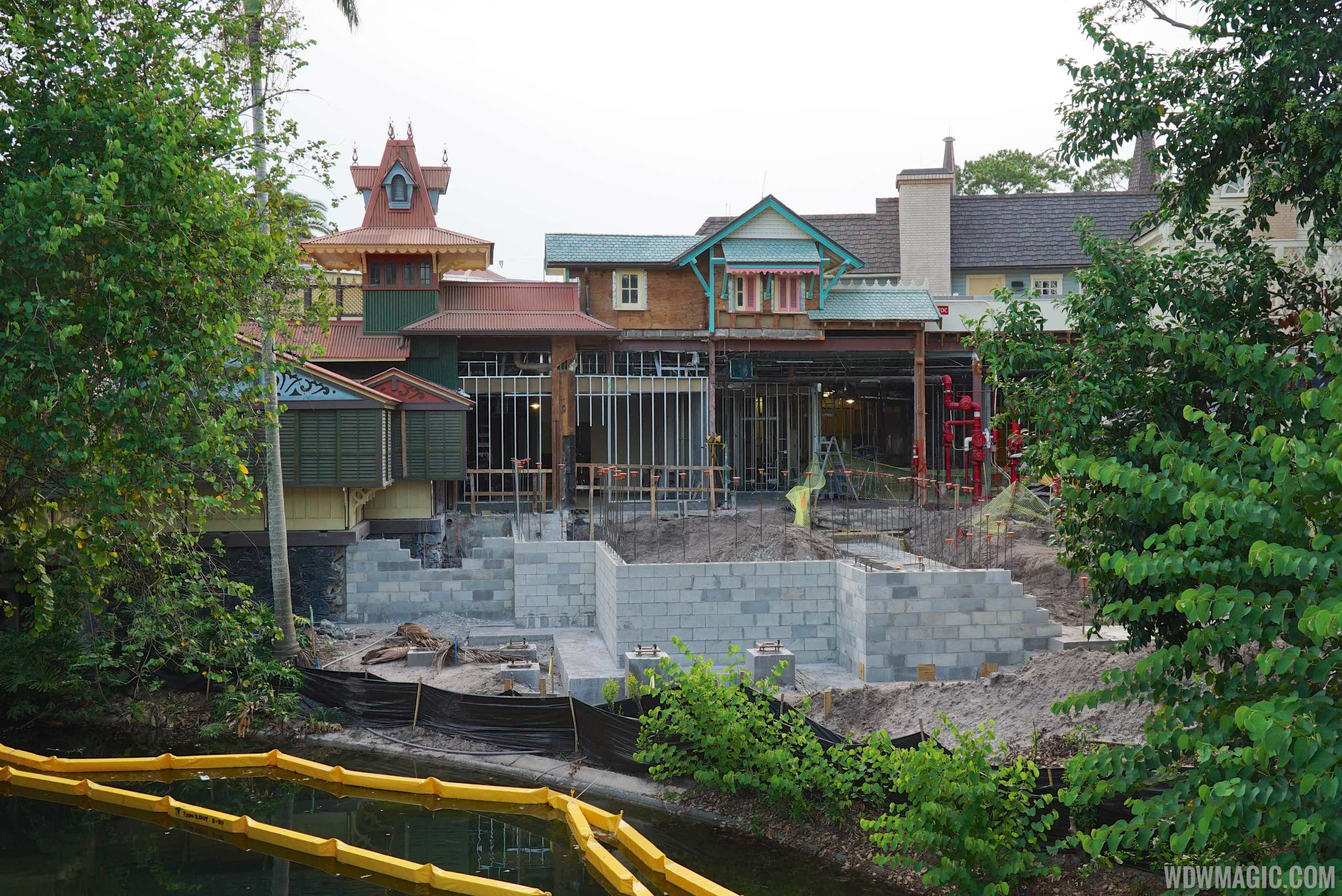 Jungle Cruise Skipper Canteen under construction in Adventureland