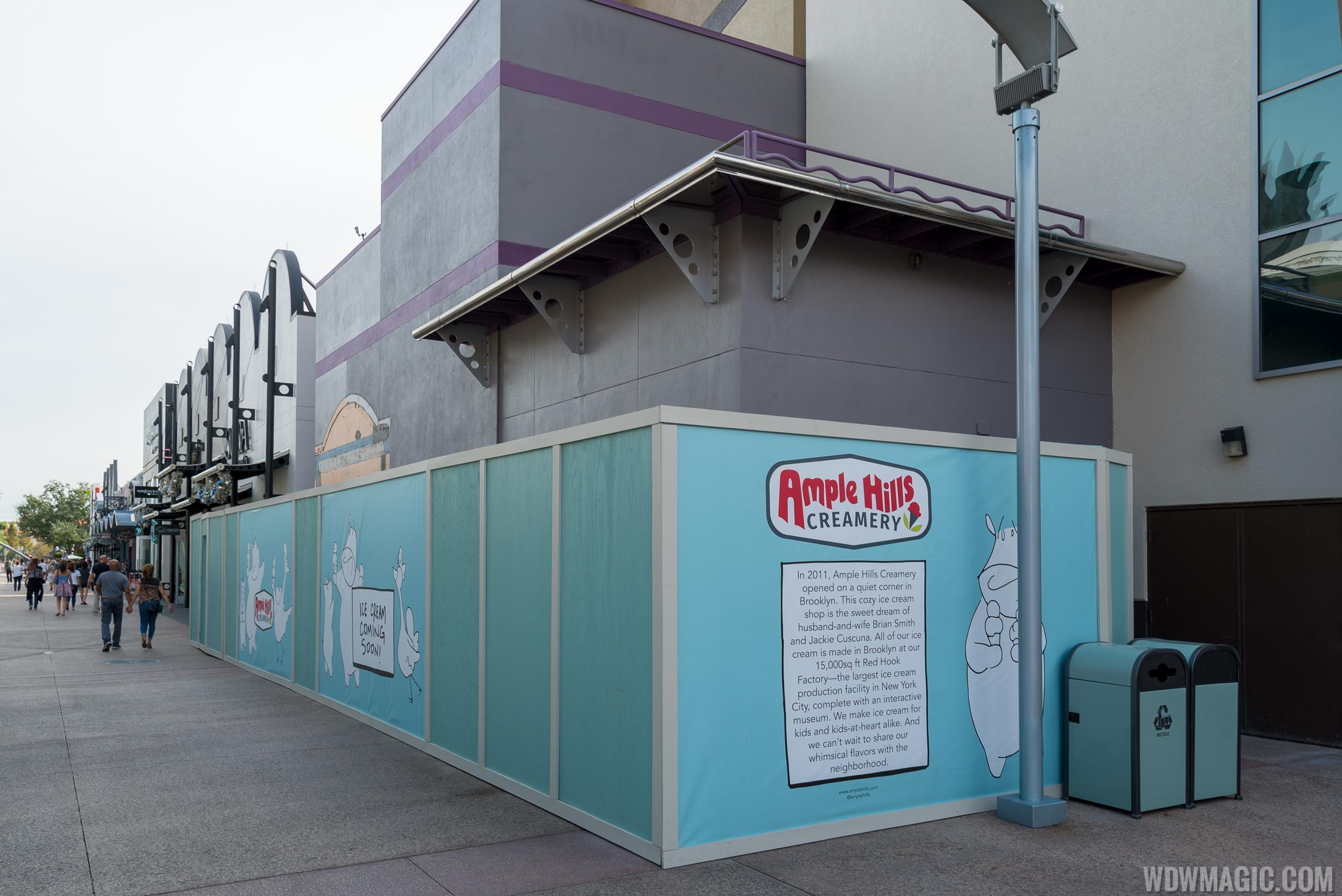 Ample Hills Creamery Disney Springs construction