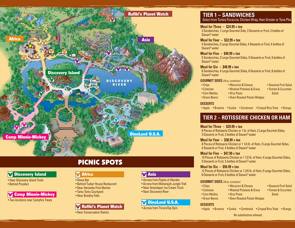 Picnic in the Park guide map and information Photo 2 of 2