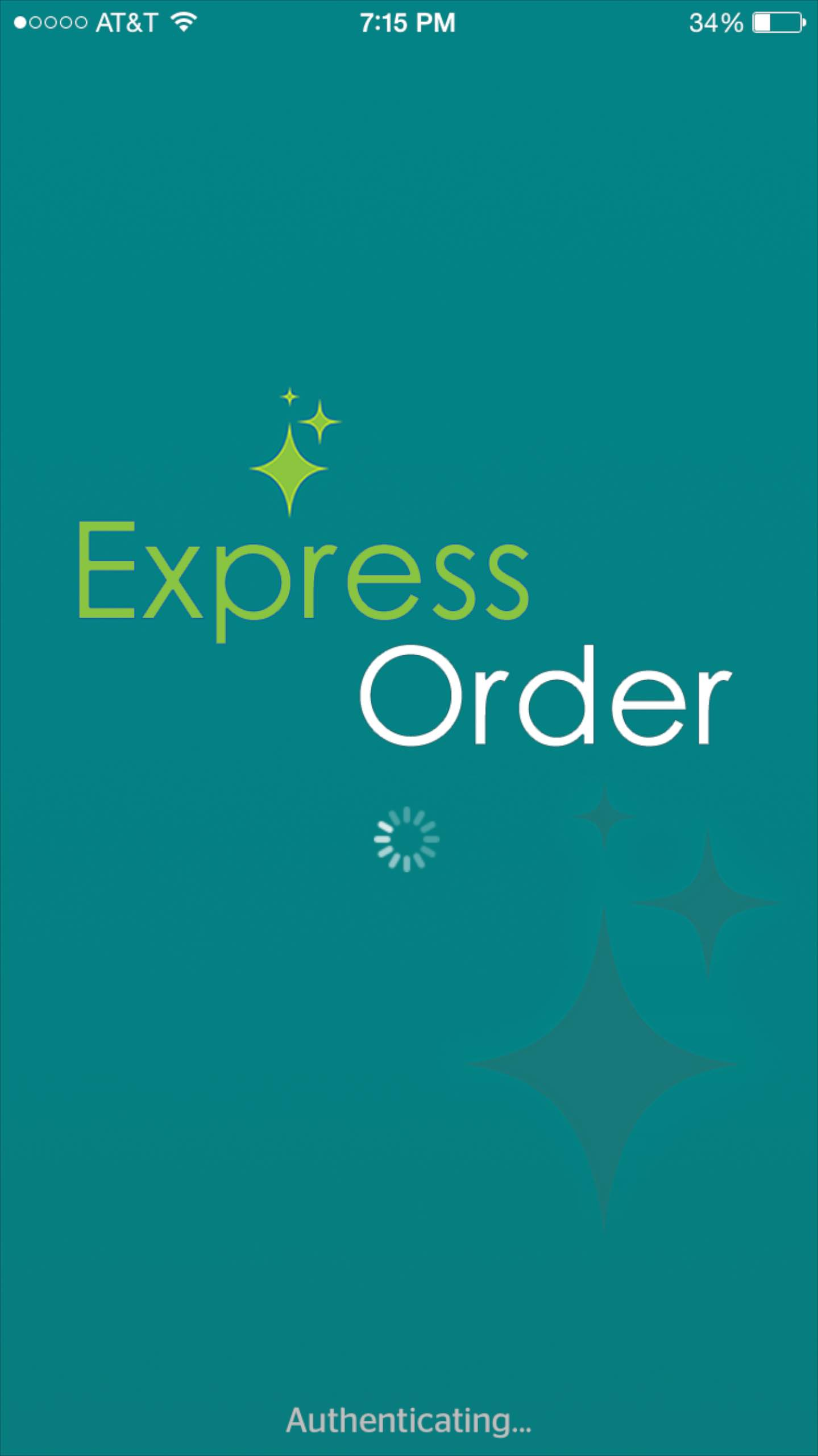 Express Order mobile app