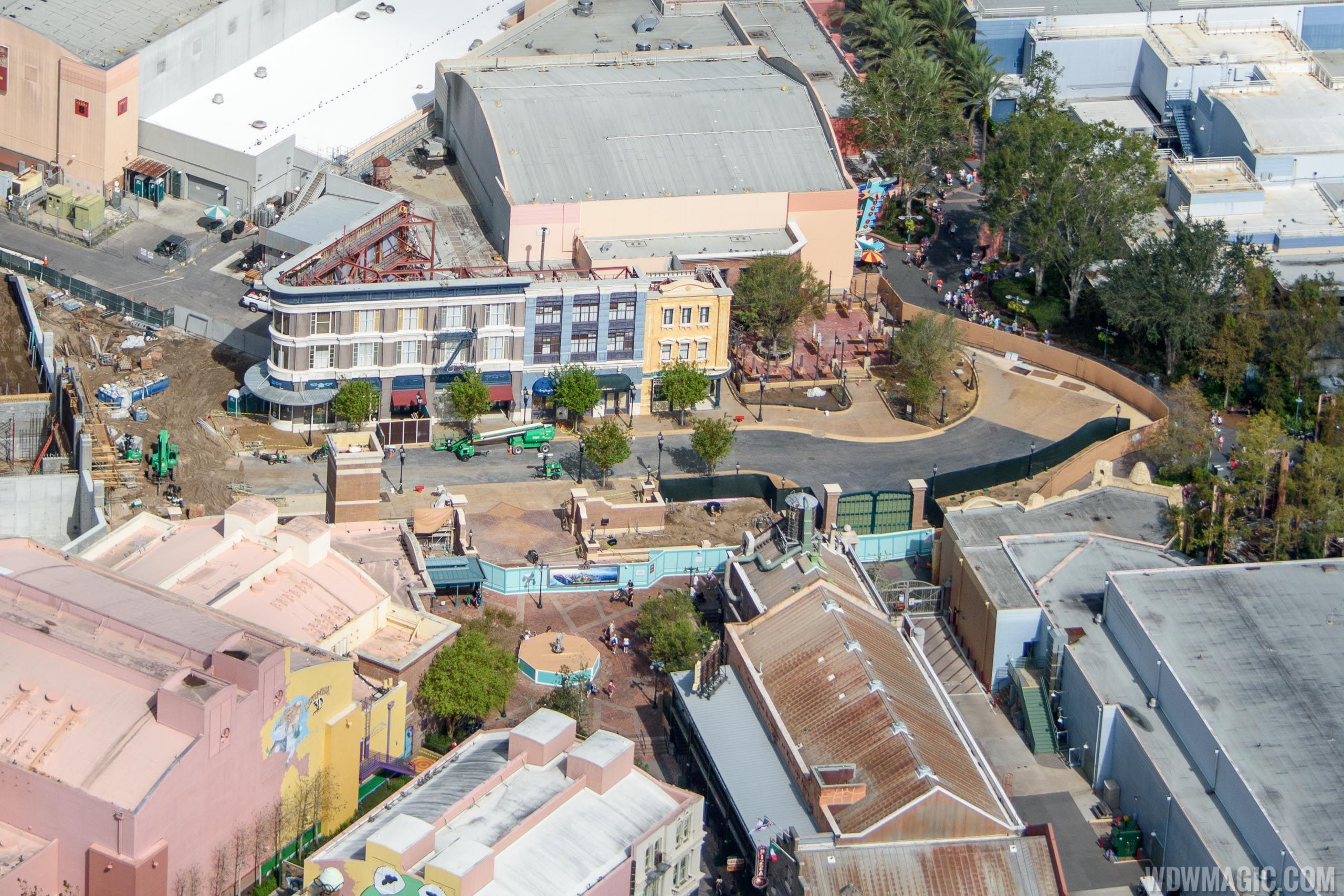 Grand Avenue construction from the air