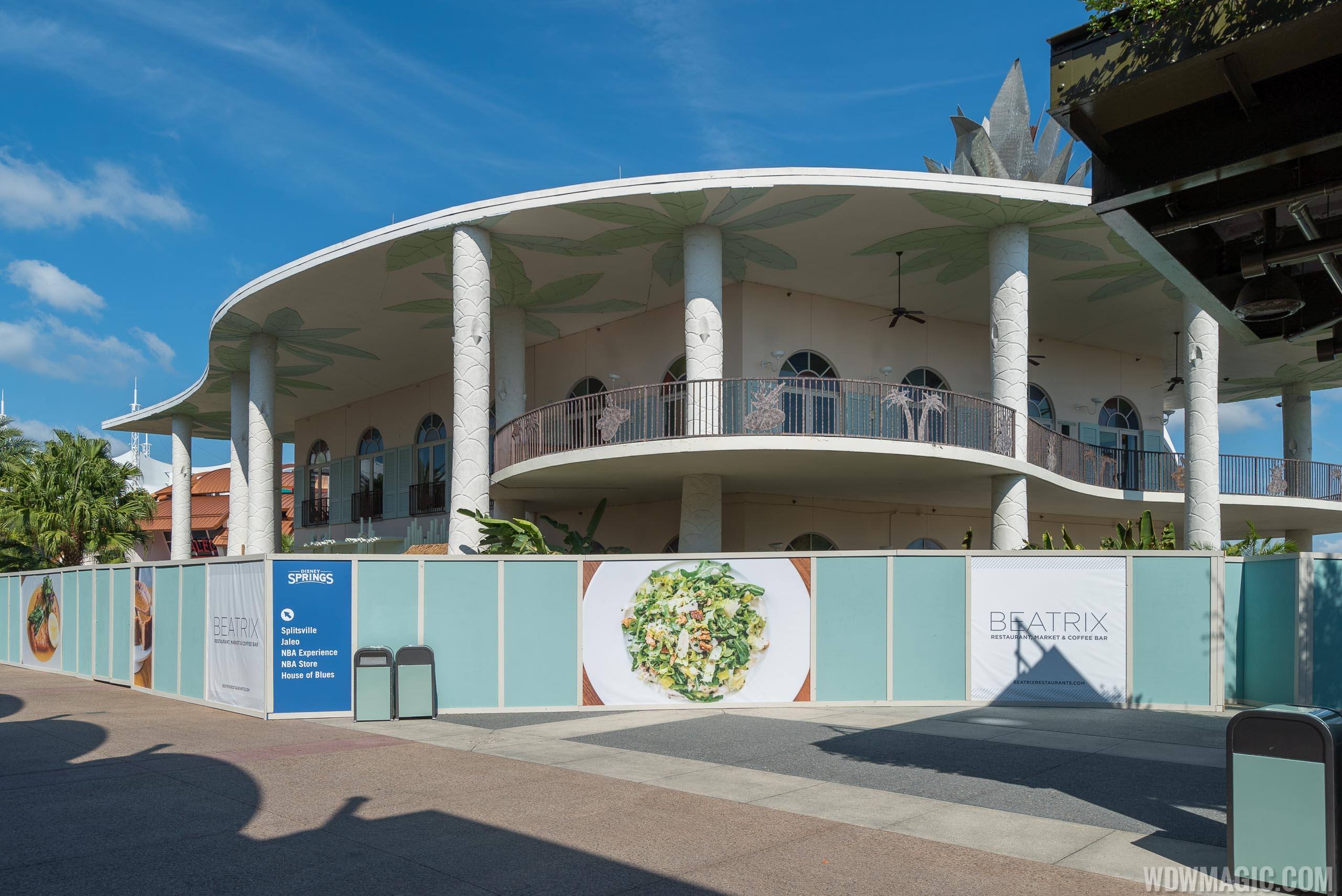 Beatrix Disney Springs construction - September 2019