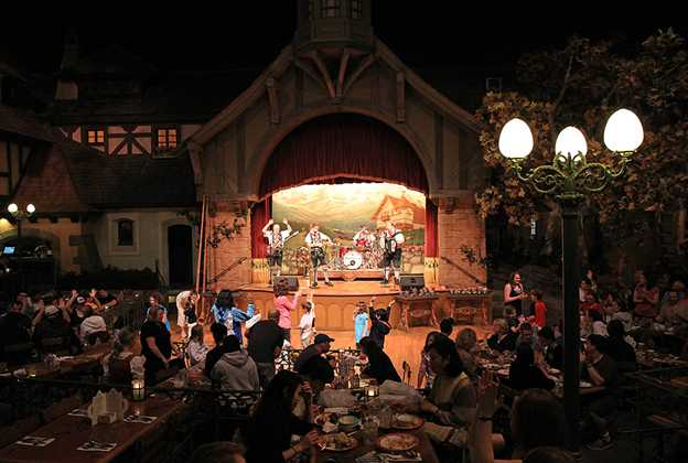 Biergarten dining room and entertainment