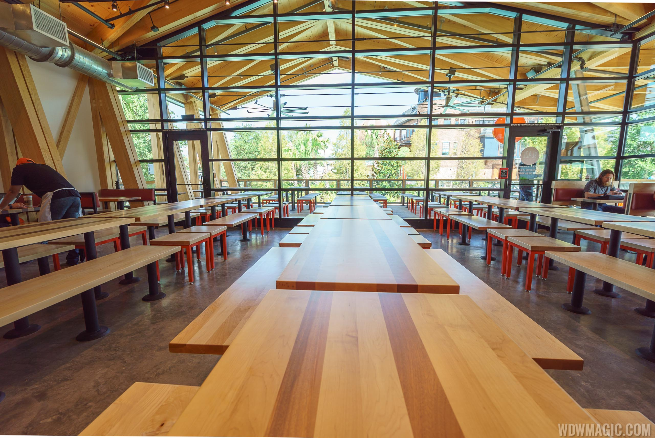 Disney Springs Blaze Pizza Dining Room