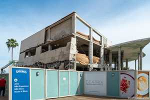 PHOTOS - Demolition of former Bongo's building at Disney Springs picks up pace