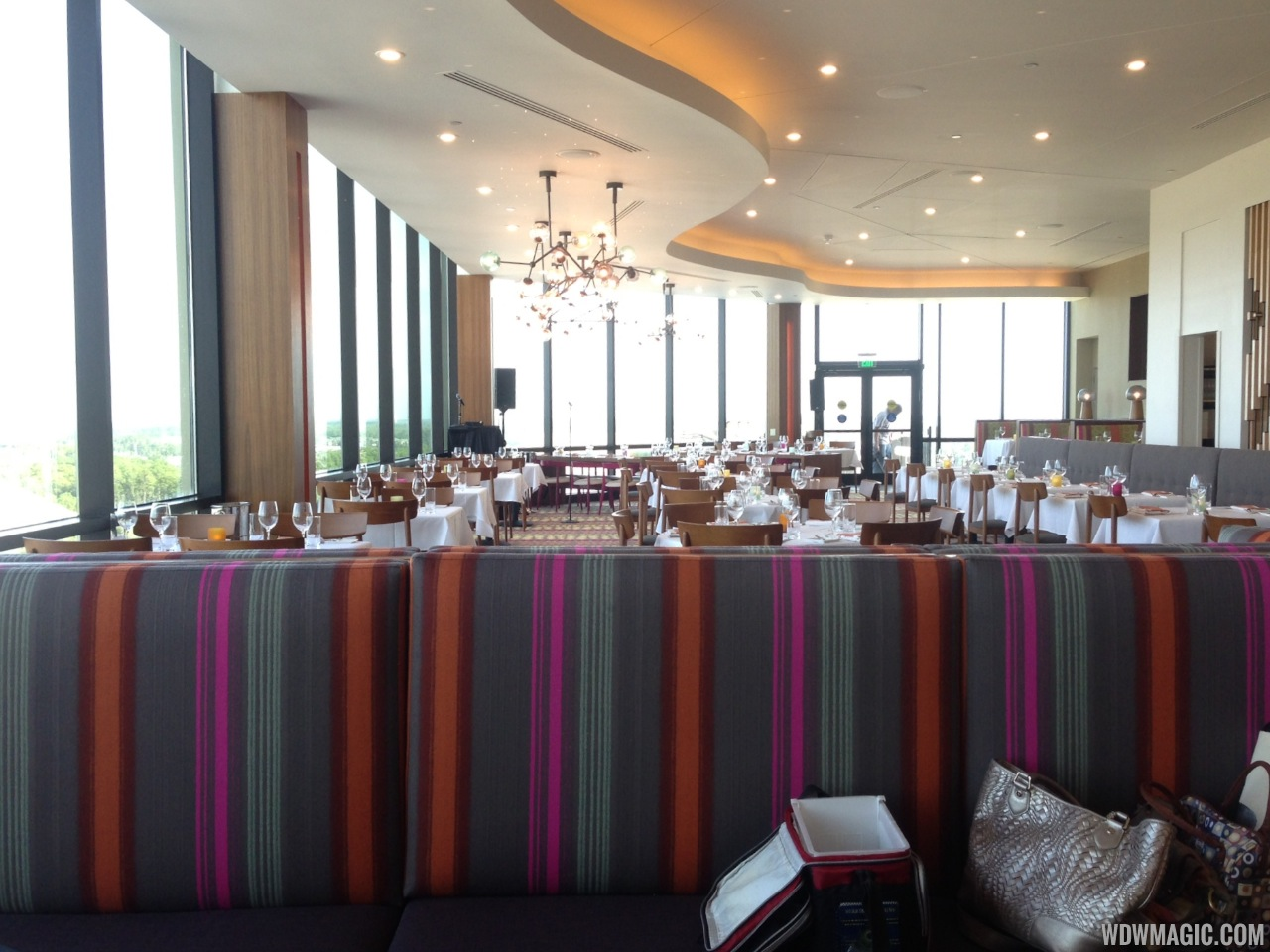 Inside the newly refurbished California Grill dining room