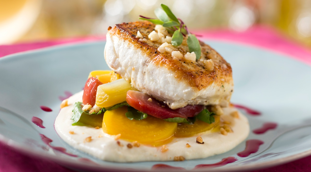 New California Grill dining room and menu items