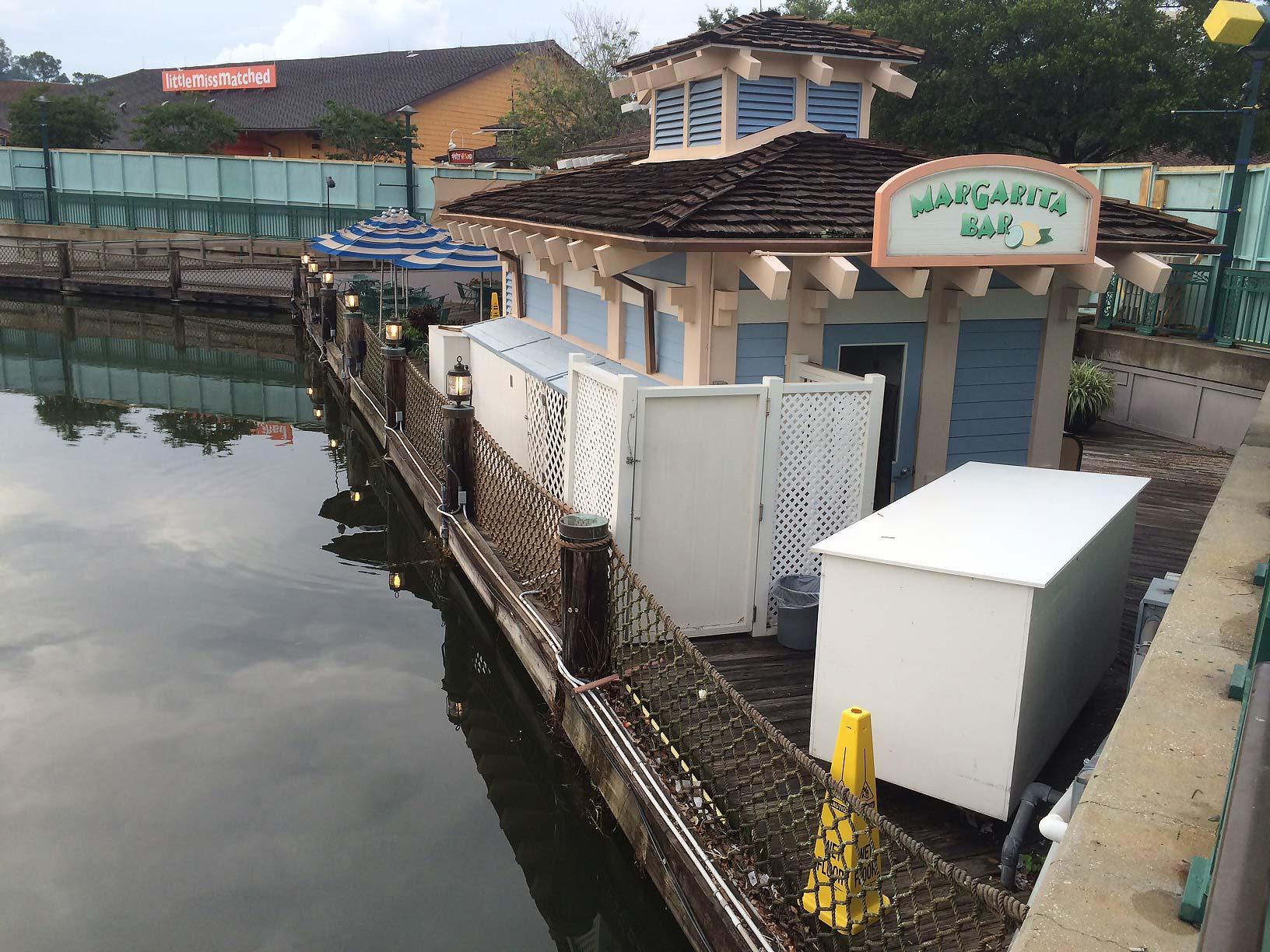 Cap N Jacks Margarita Bar closed and walled off