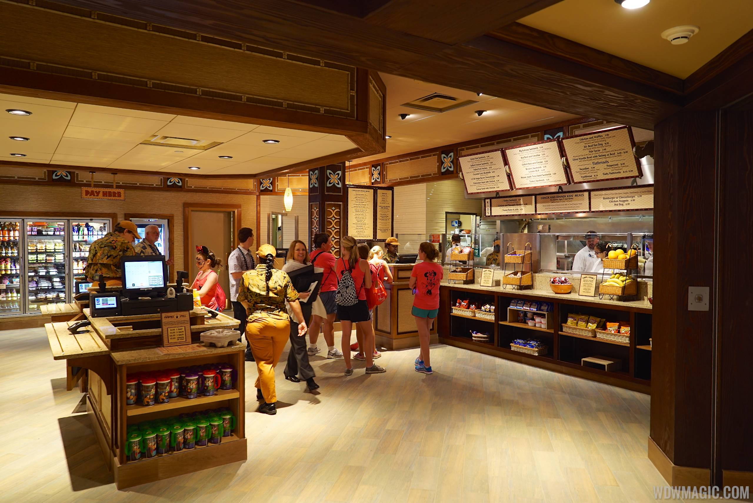 The ordering area at Captain Cook's