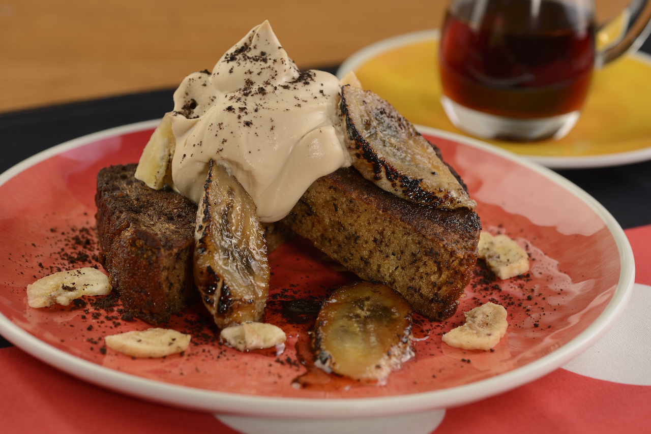 Goofy's Banana Bread French Toast will combine unique flavors of banana bread baked in zesty orange-scented French toast batter, topped with Espresso-mascarpone cream, toasted bananas and chocolate crumbles