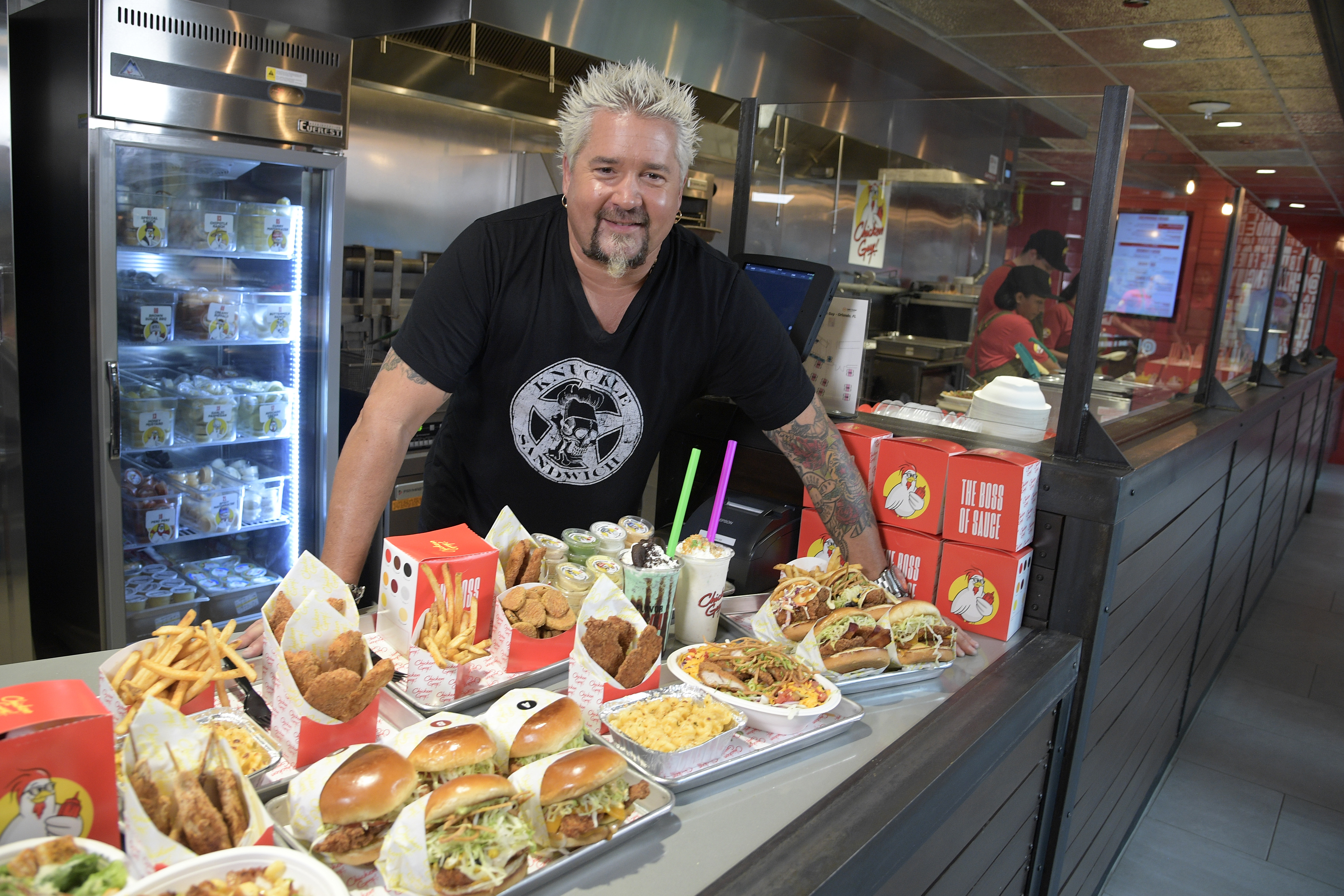 Celebrity Chef Guy Fieri at Chicken Guy!
