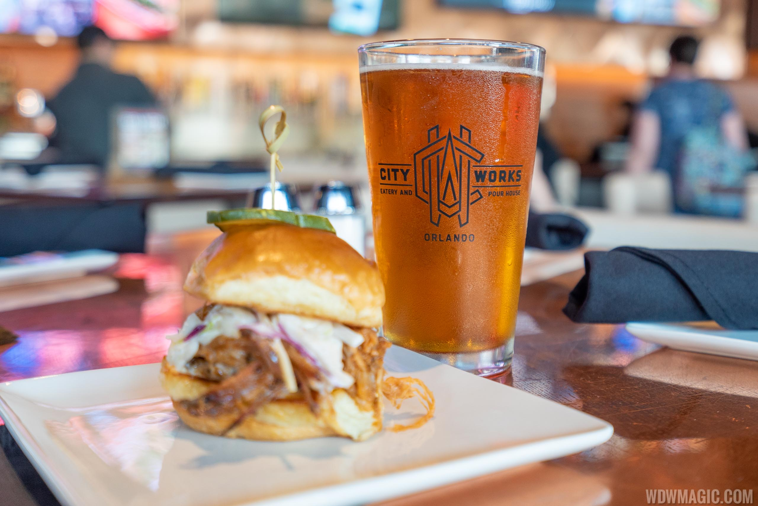 City Works Eatery and Pour House Disney Springs food and drink