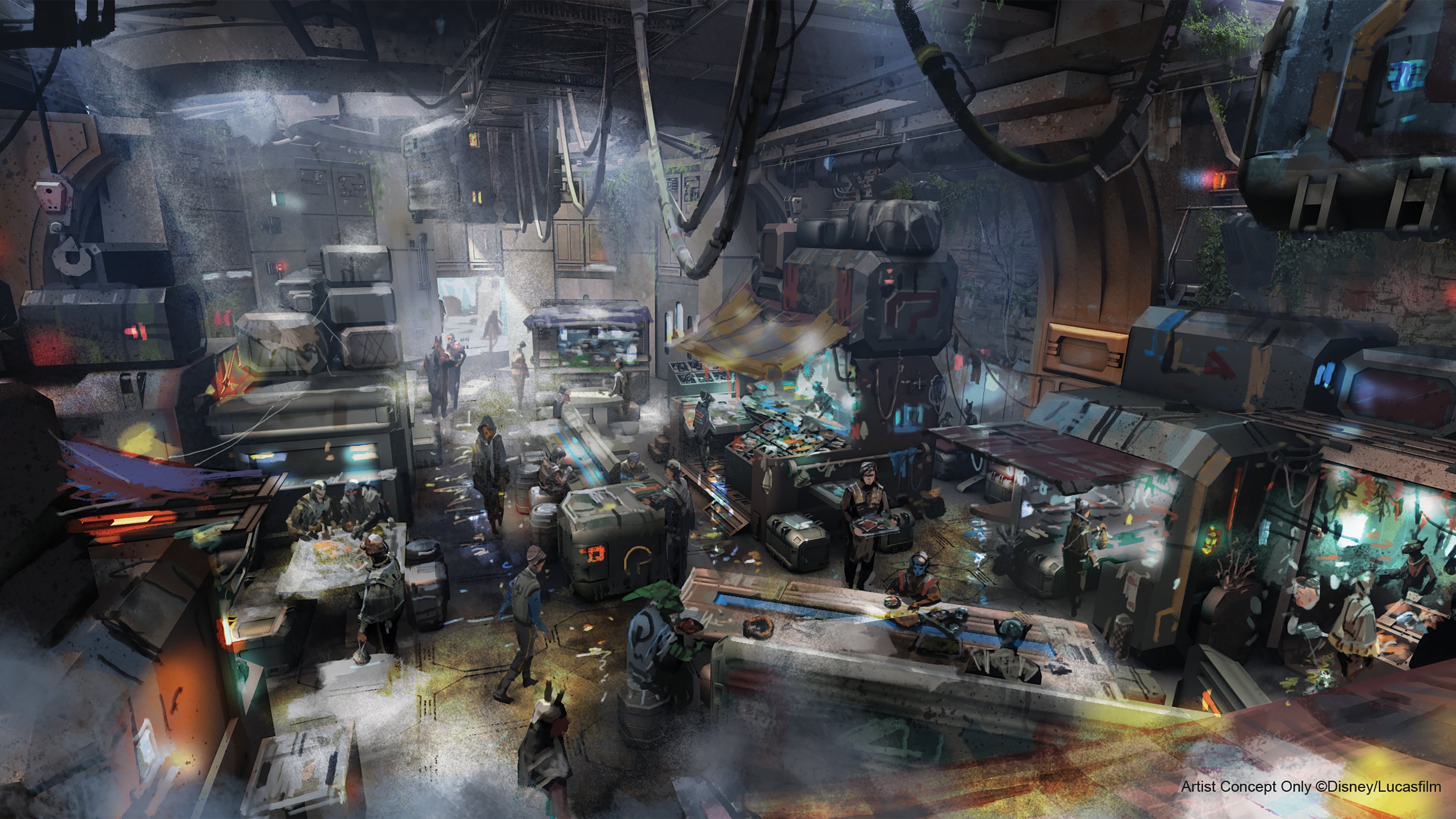 Docking Bay 7 Food and Cargo concept art