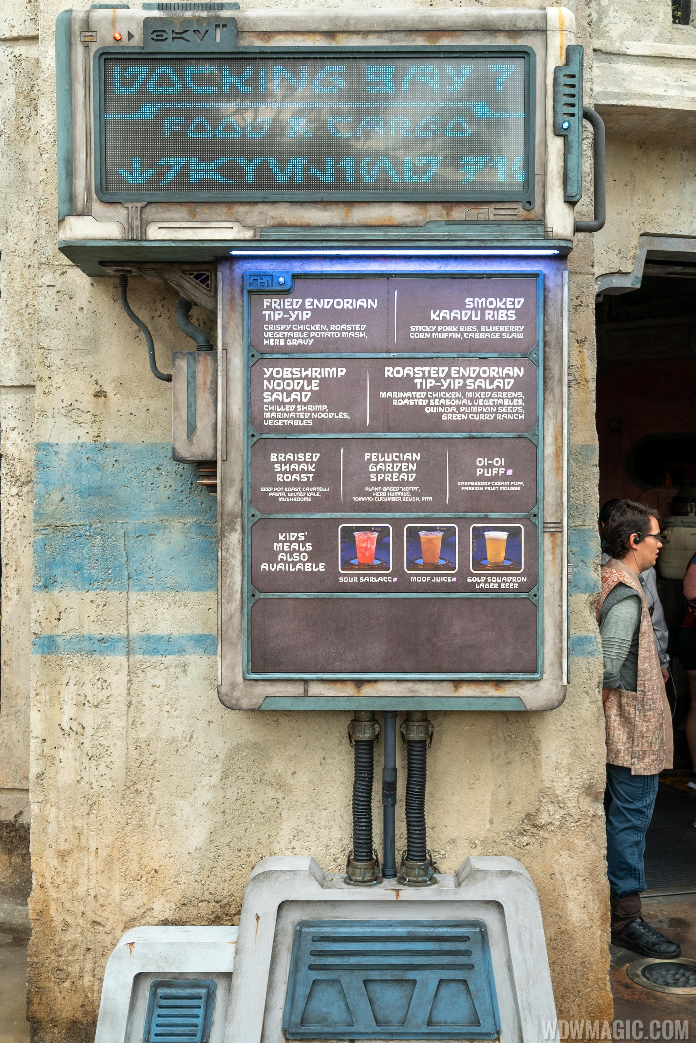Docking Bay 7 Food and Cargo - Menu board outside