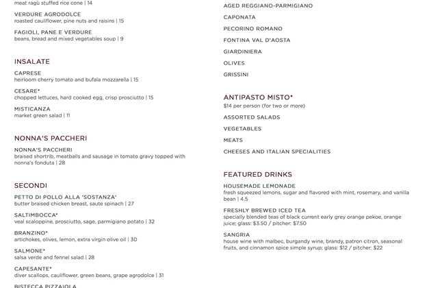 Enzo's Hideaway menu