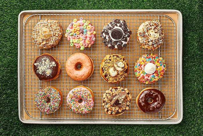 Everglazed donuts food shots