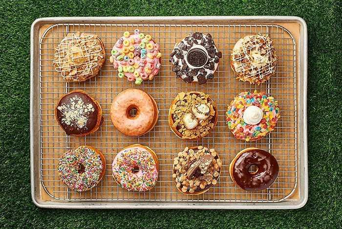 Everglazed donuts food shots