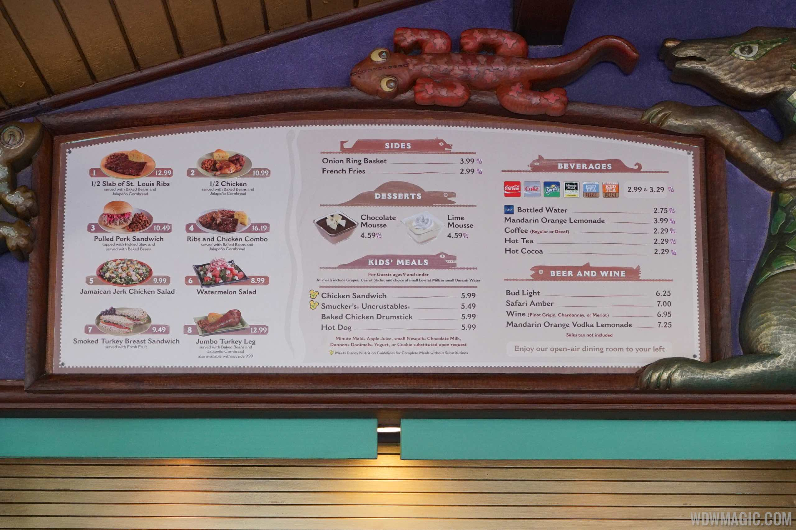 Flame Tree Barbecue - New menu