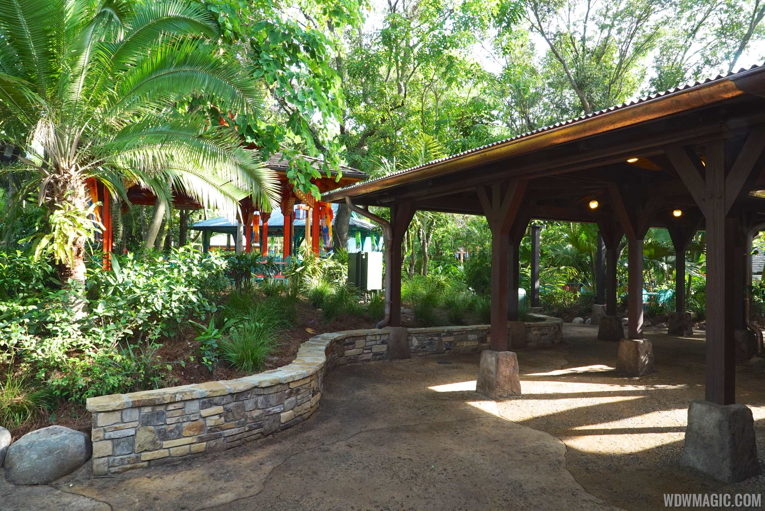 Flame Tree Barbecue - New covered walkways
