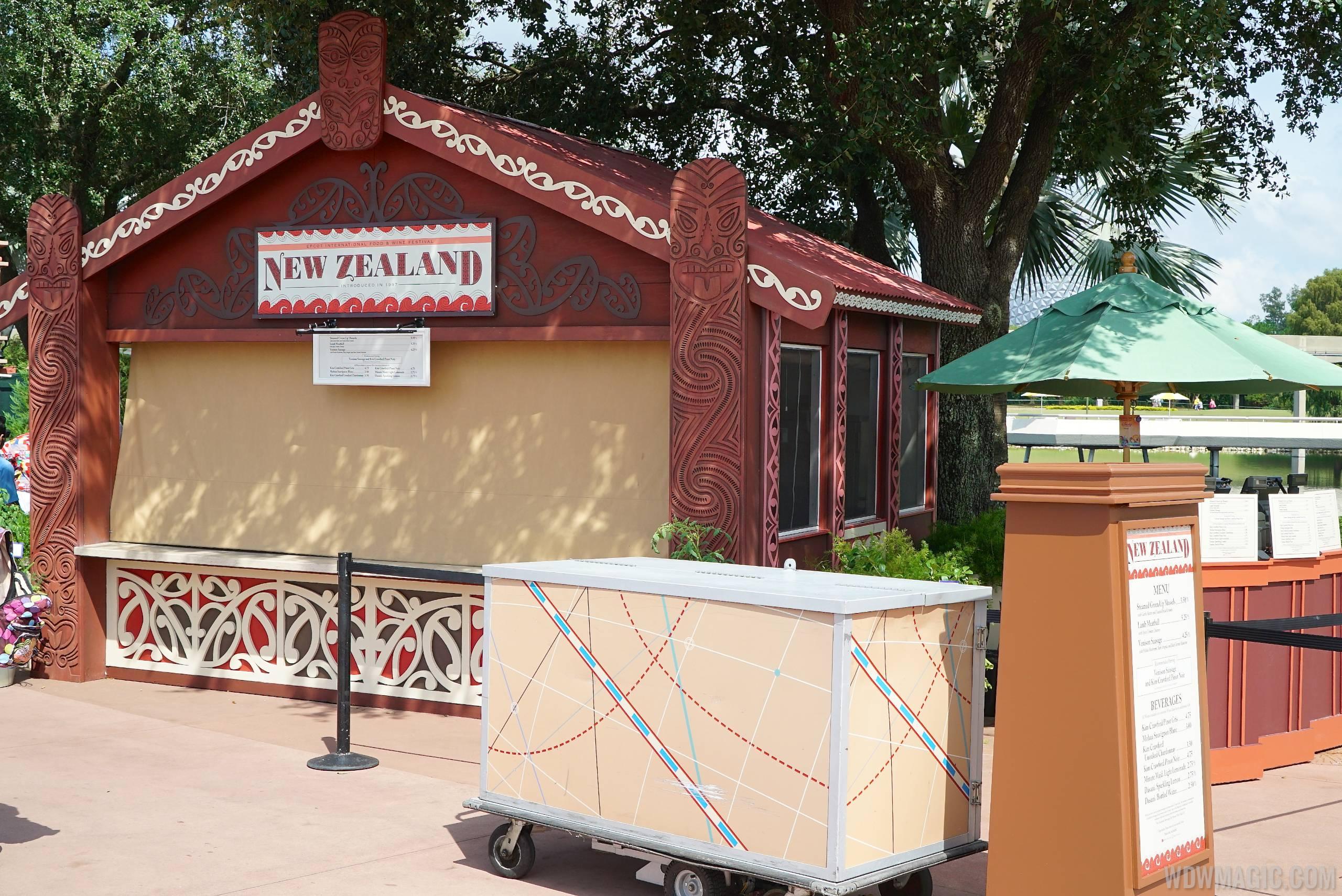 New Zealand Food and Wine kiosk
