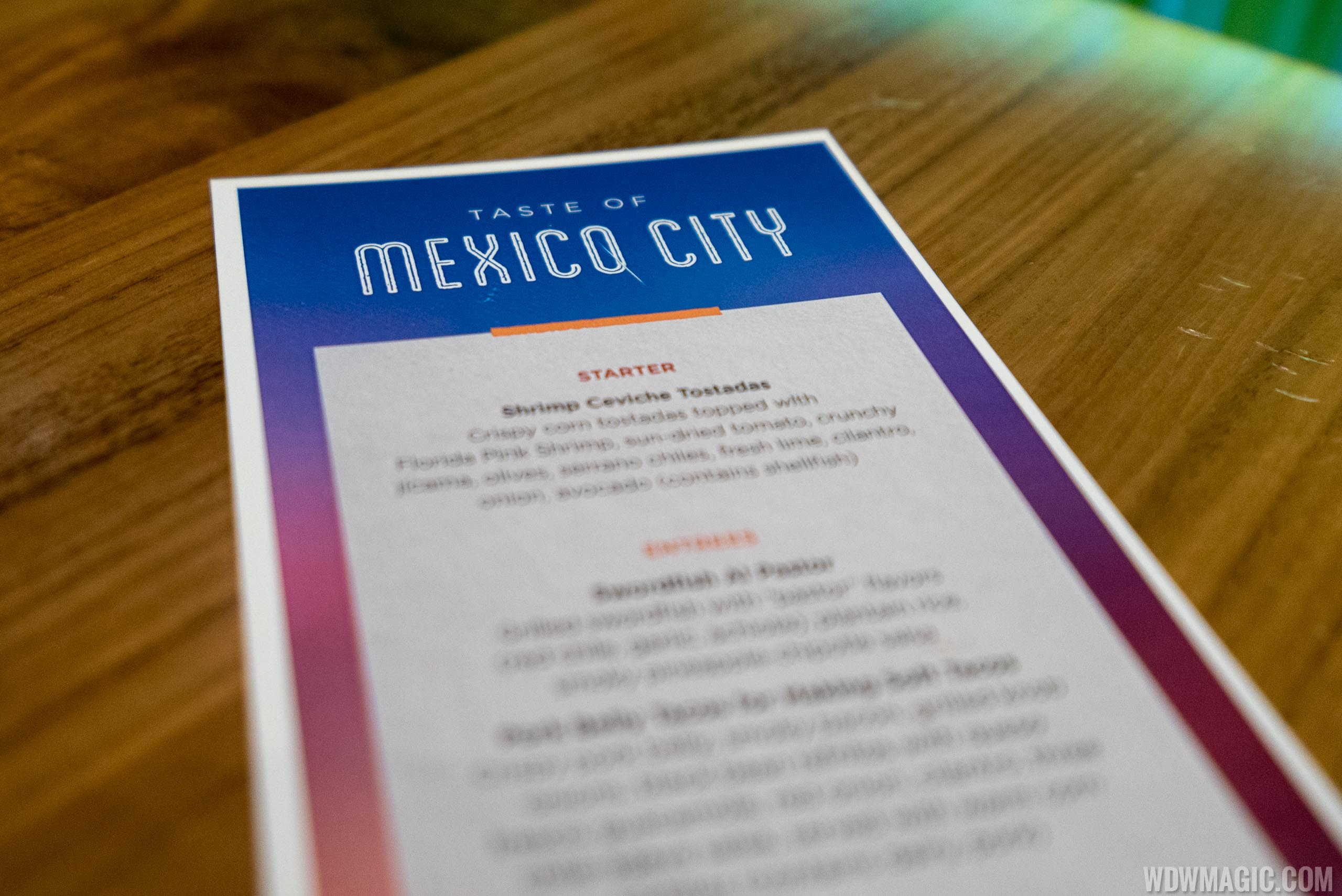 Frontera Cocina - Taste of Mexico City - menu