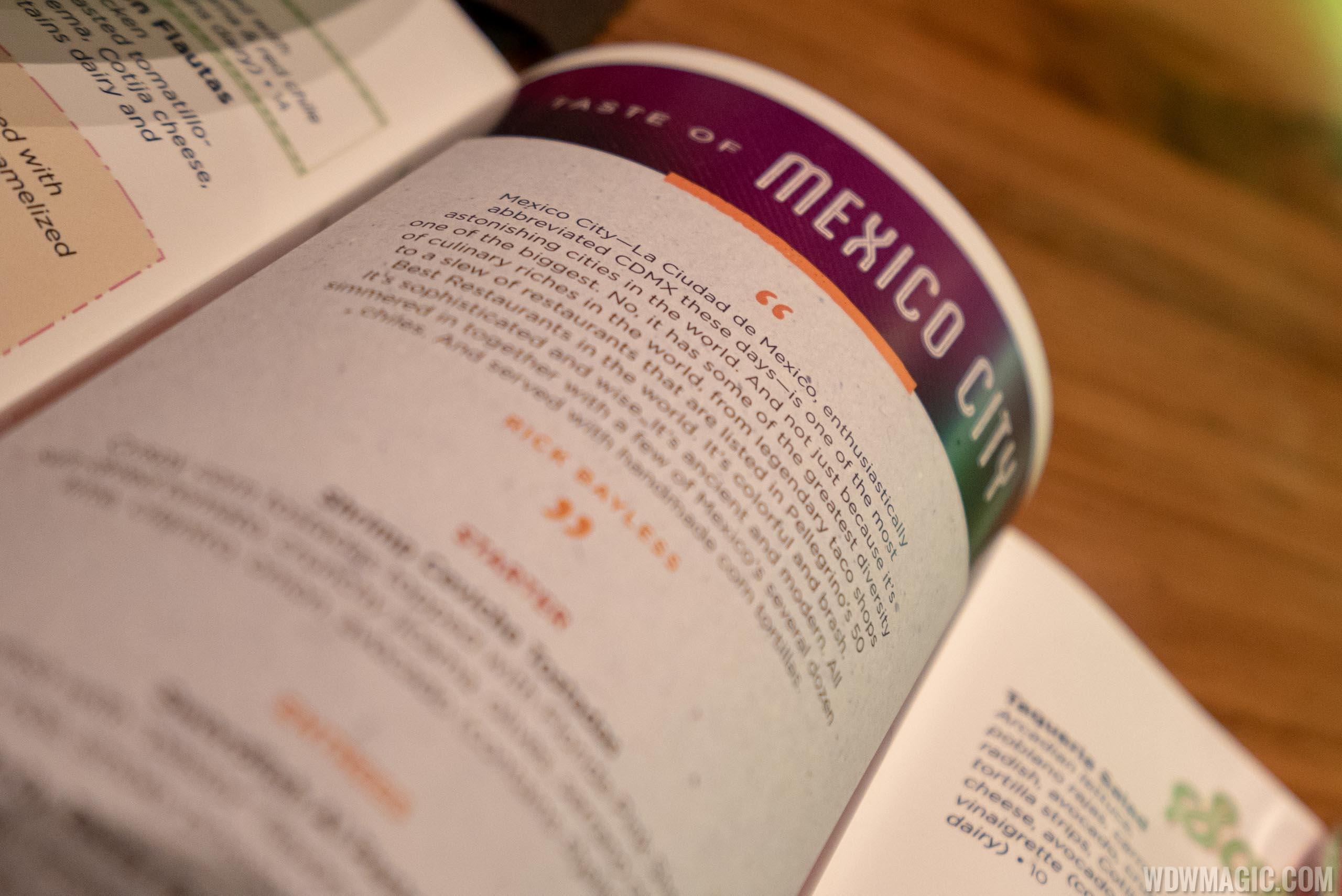Frontera Cocina - Taste of Mexico City menu 2019